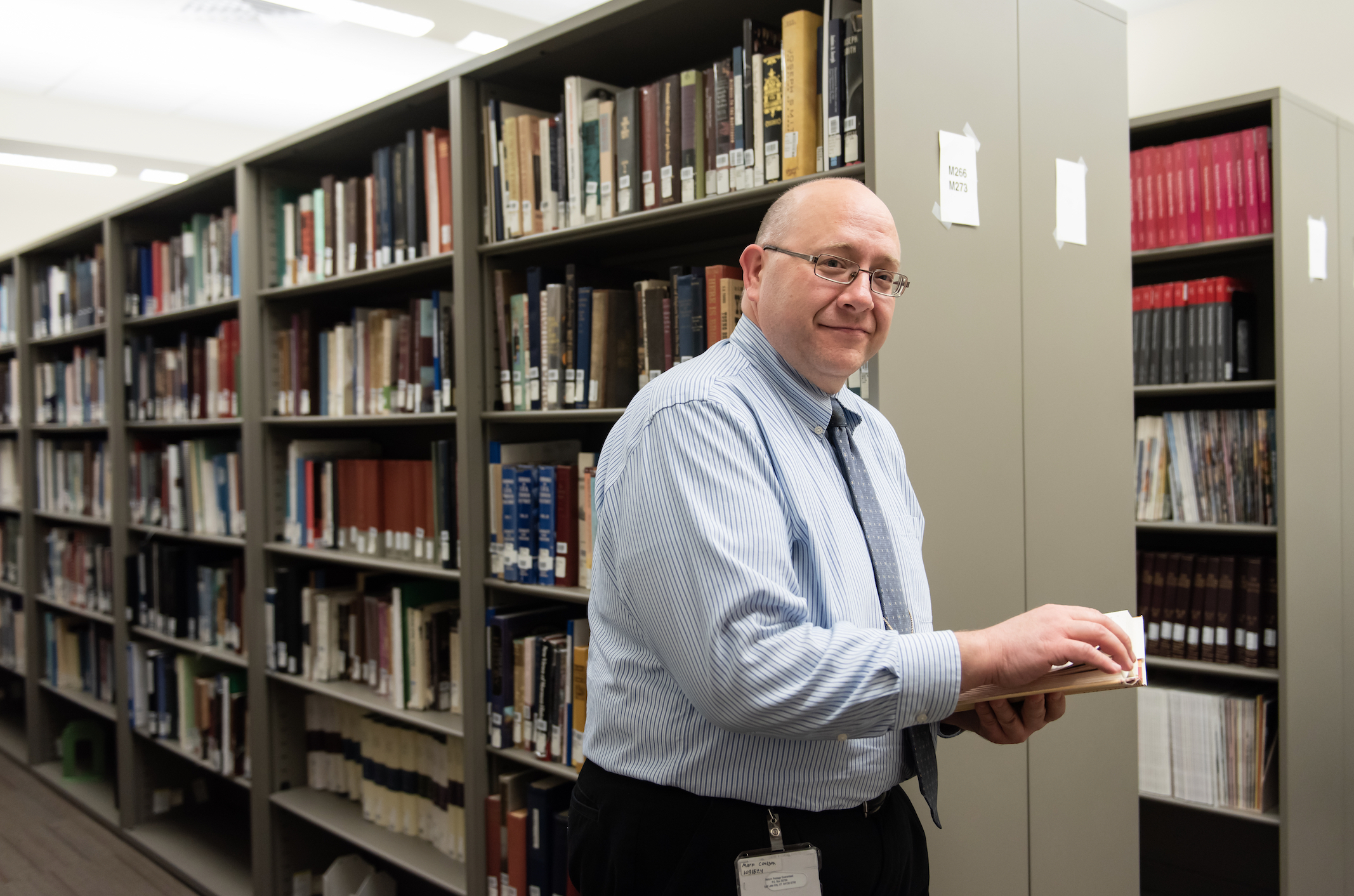 Mark Coulson, an editor and source checker for the Joseph Smith Papers, walks through the project library.