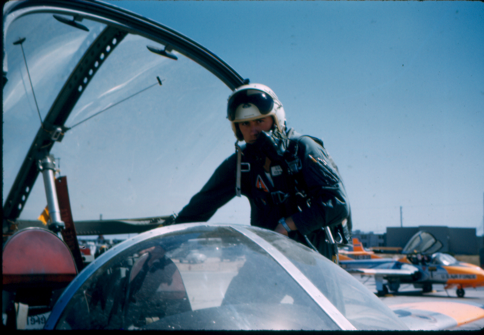 Elder Dieter F. Uchtdorf as a young fighter pilot in the United States.
