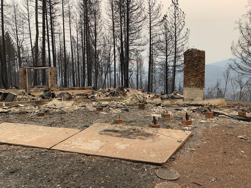 Ingoglia home after the Camp Fire in Paradise, Calif.