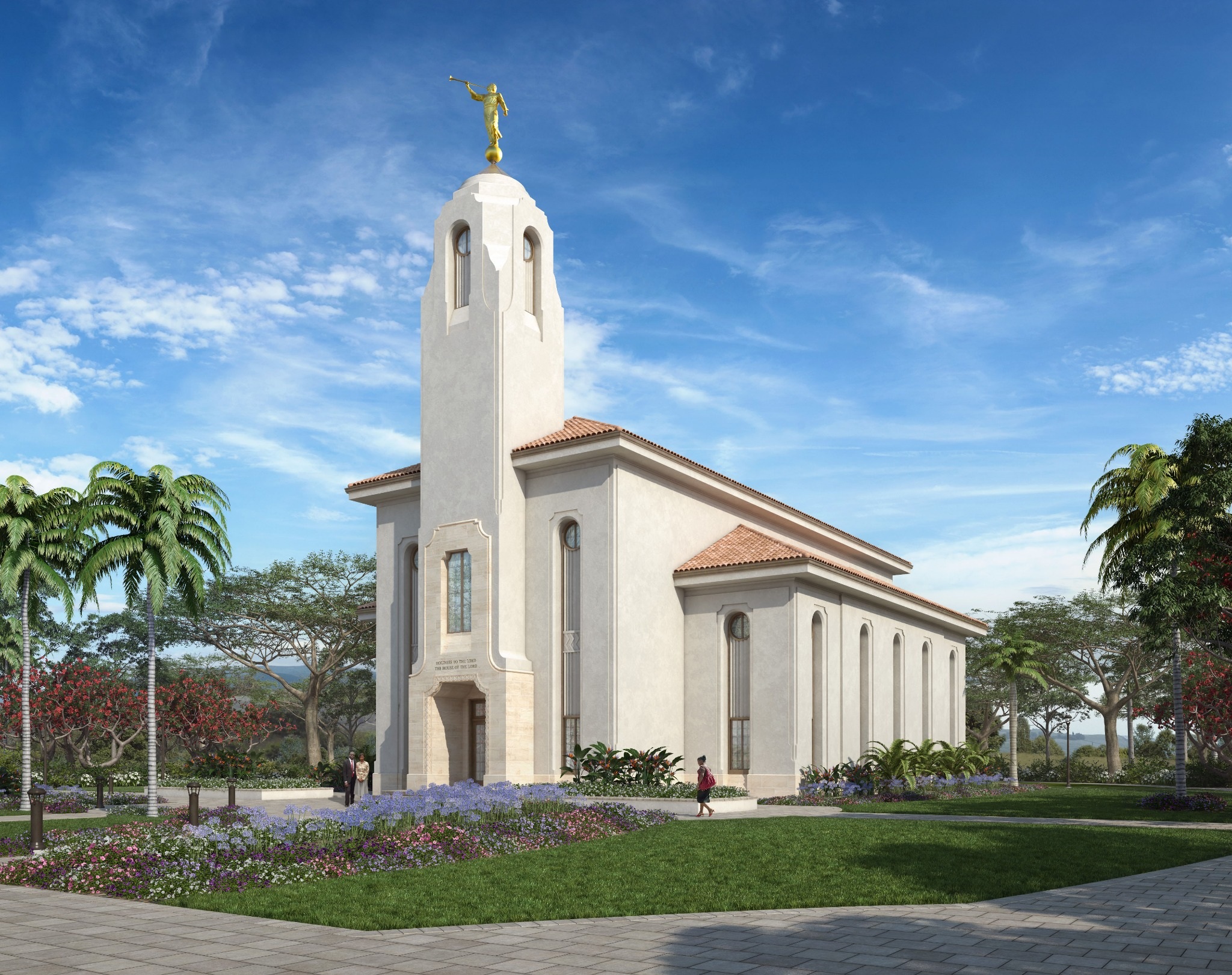 A rendering of the Durban South Africa Temple.