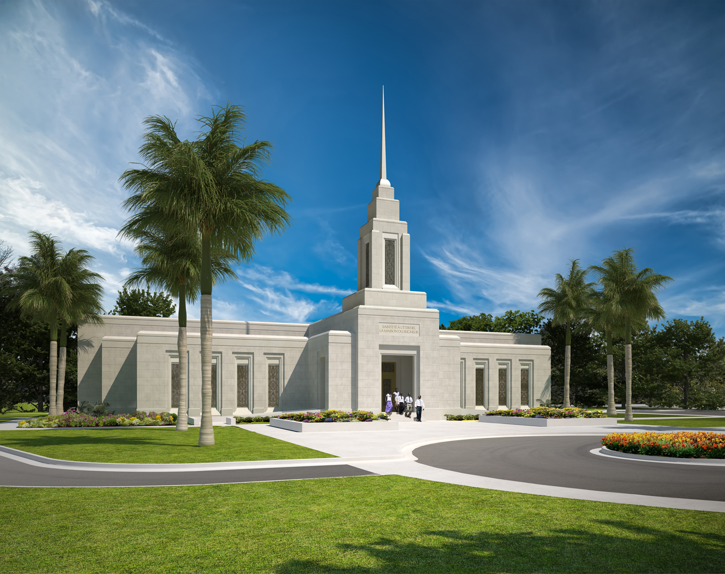 A rendering of the Port-au-Prince Haiti Temple.