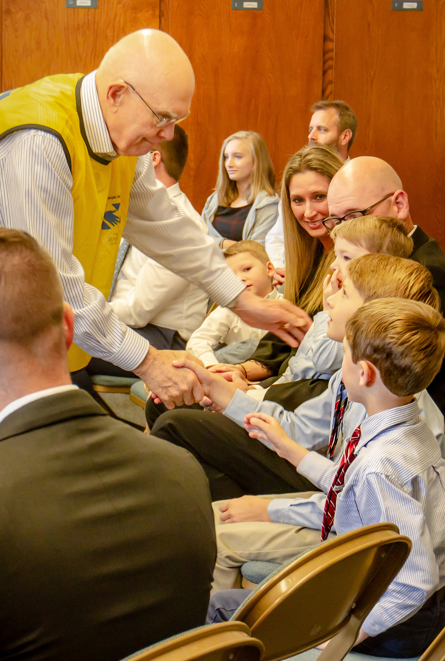 President Dallin H. Oaks, first counselor in the First Presidency, meets with Latter-day Saints in North Carolina, October 20, 2018.