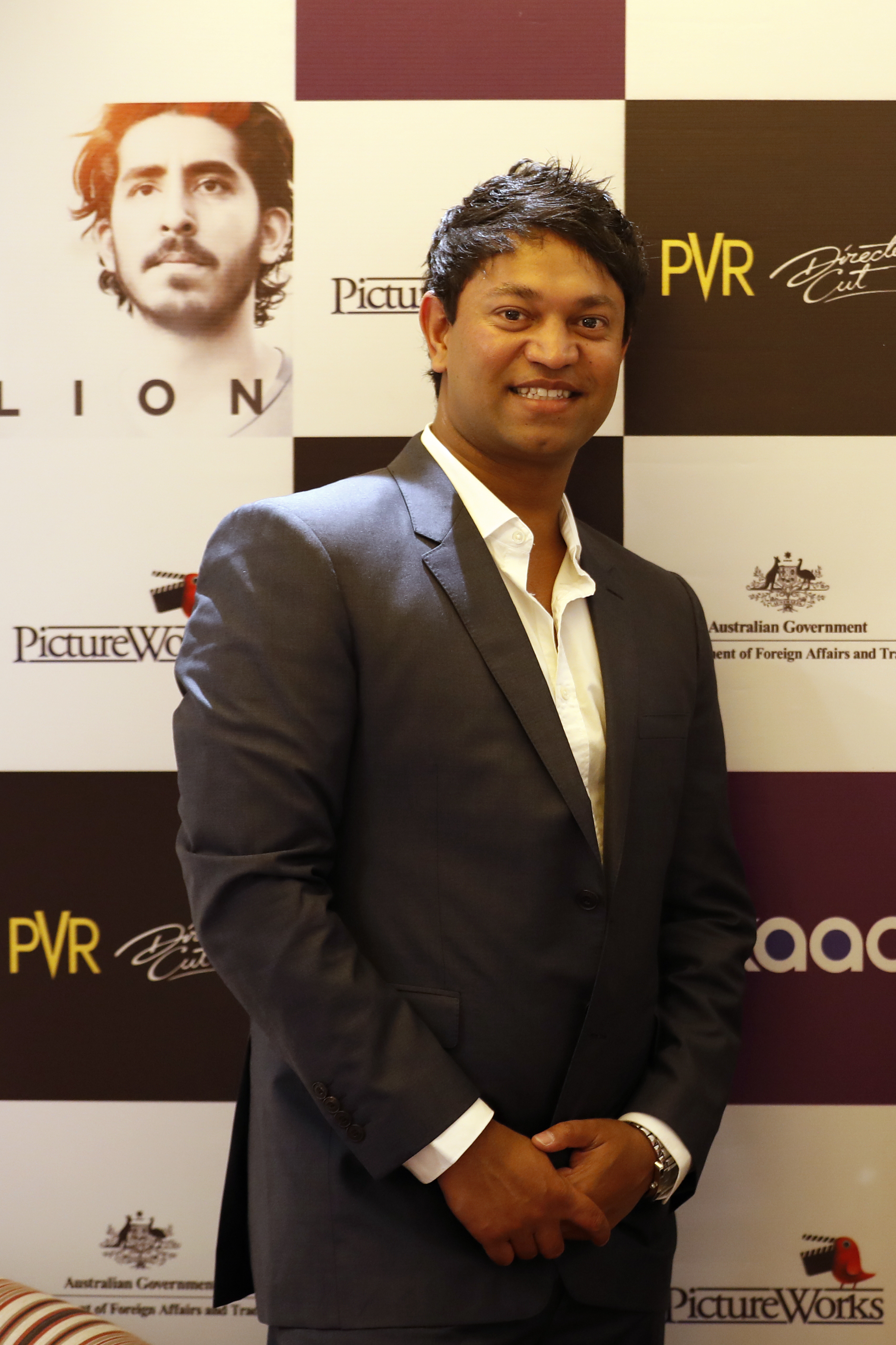 """Indian-born Australian businessman Saroo Brierley poses during a press conference of the movie Lion in New Delhi, India, Thursday, Feb. 2, 2017. The Australian film is based on the non-fiction book """"A Long Way Home,"""" an autobiographical account of Saroo Brierley who reunited with his birth mother 25 years later. Brierley will appear at this year's RootsTech, scheduled for Feb. 27-March 2 at the Salt Palace Convention Center."""