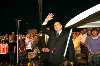 Crowds were delighted by the program and the chance to glimpse President Thomas S. Monson who attended the event.