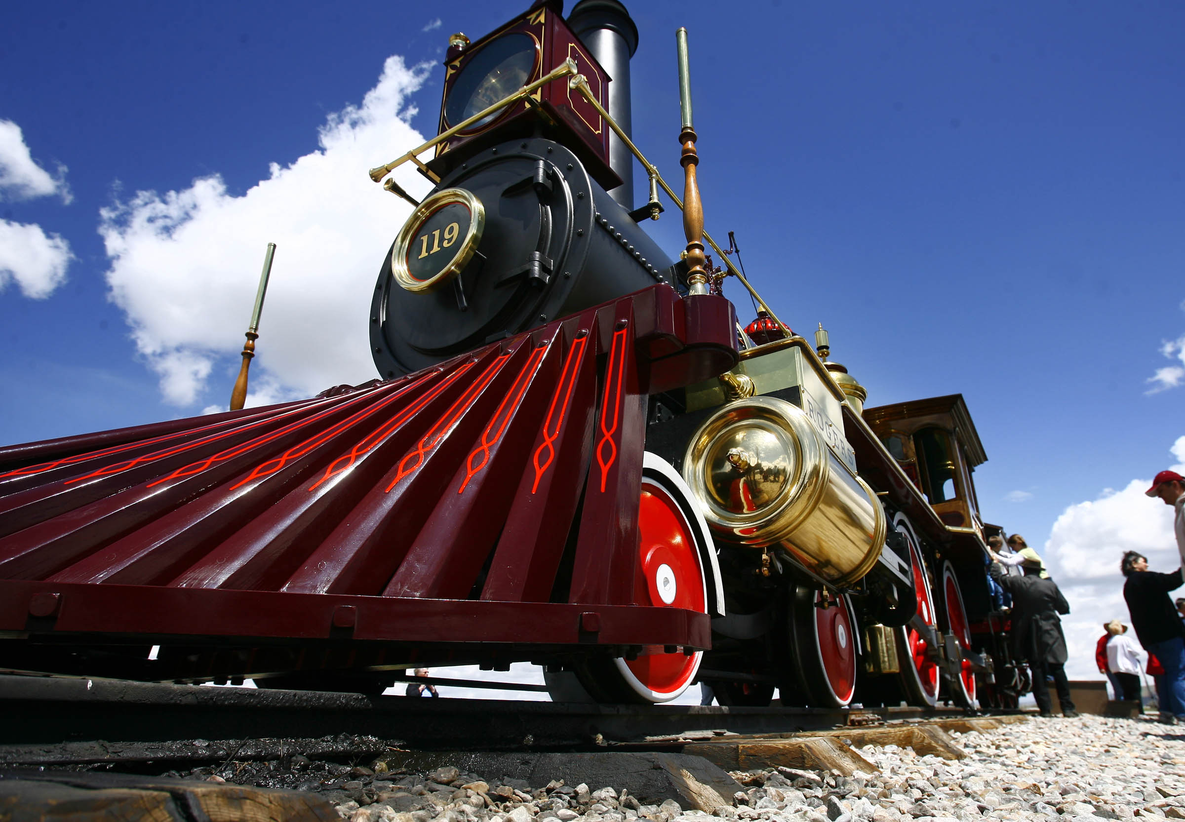 The 119 engine is photographed Monday, May 10, 2010, as the Golden Spike National Historic Site celebrates the 141st anniversary of the day the country was united by rail.