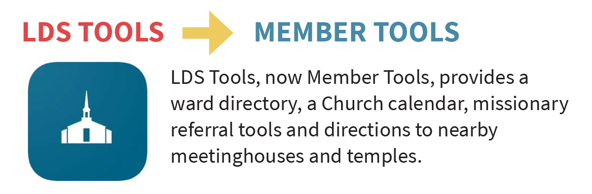 LDS Tools, LDS Media Library and more Church app names are