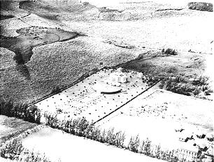 This 1924 photo shows the area around the temple in Laie.