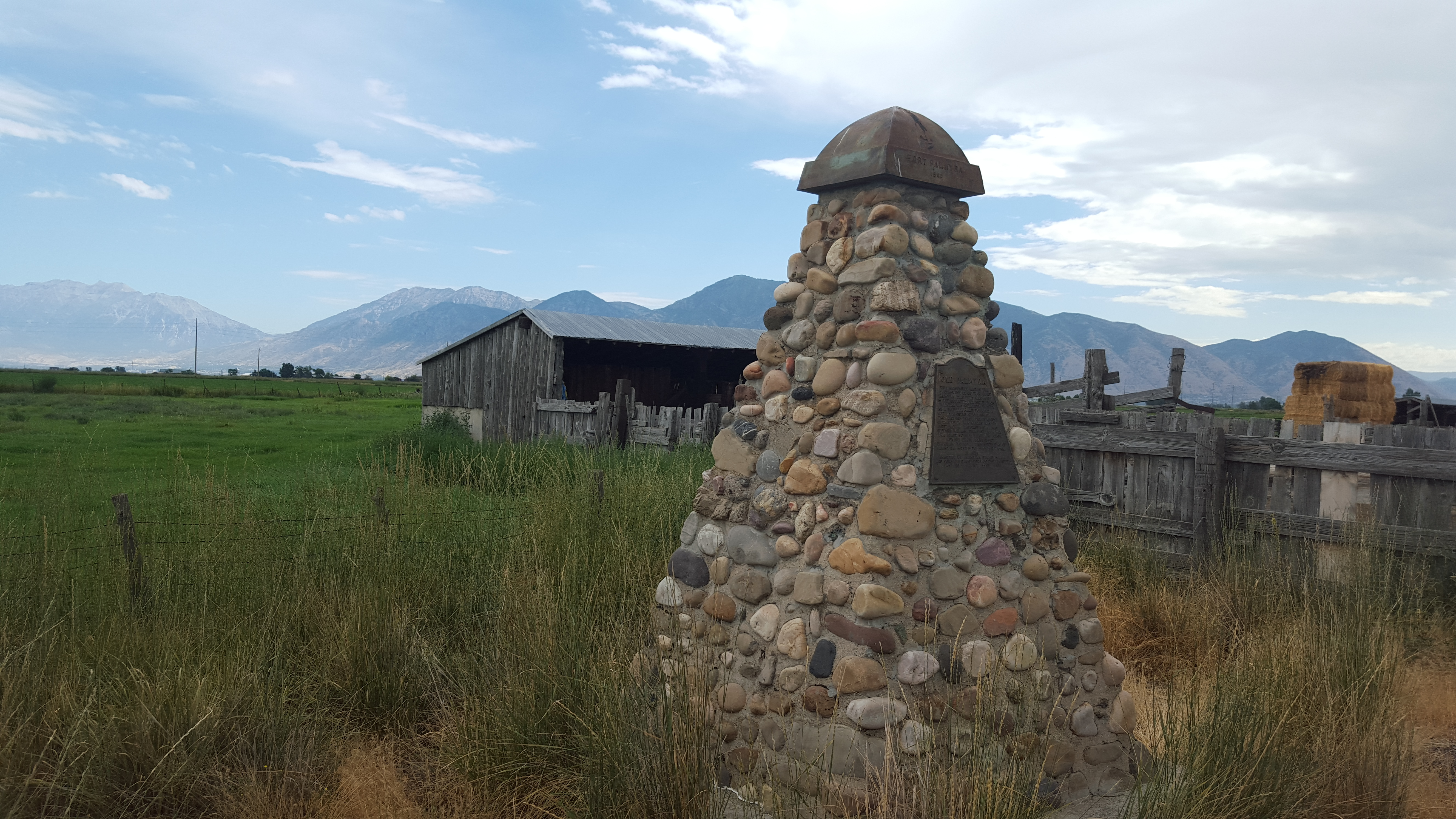 The Fort Palmyra monument near Spanish Fork was recently donated back to Daughters of Utah Pioneers, the original owners.