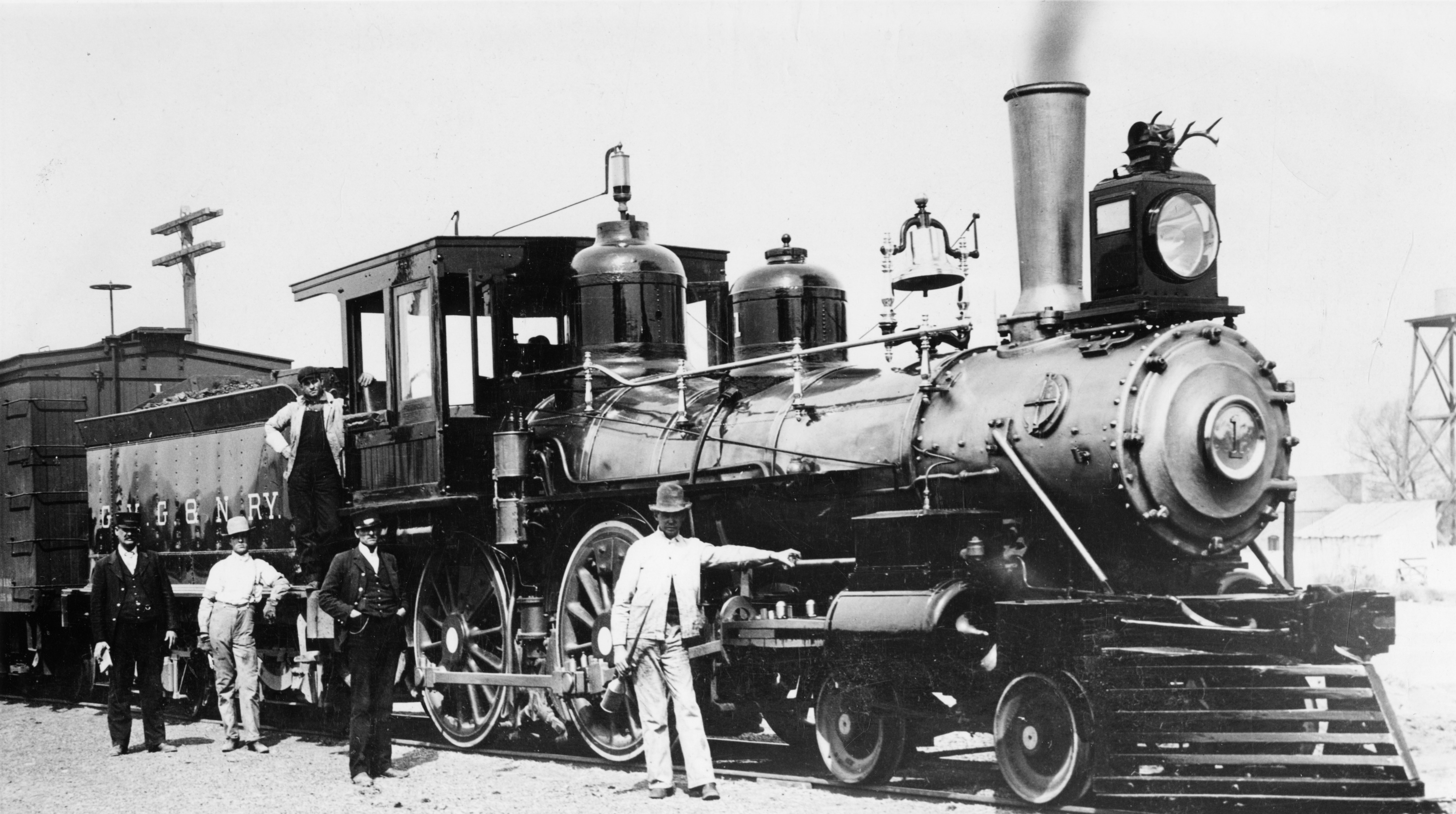 """Railroad No. 60 """"Jupiter,"""" used at driving of Golden Spike in Promontory on May 10, 1869."""