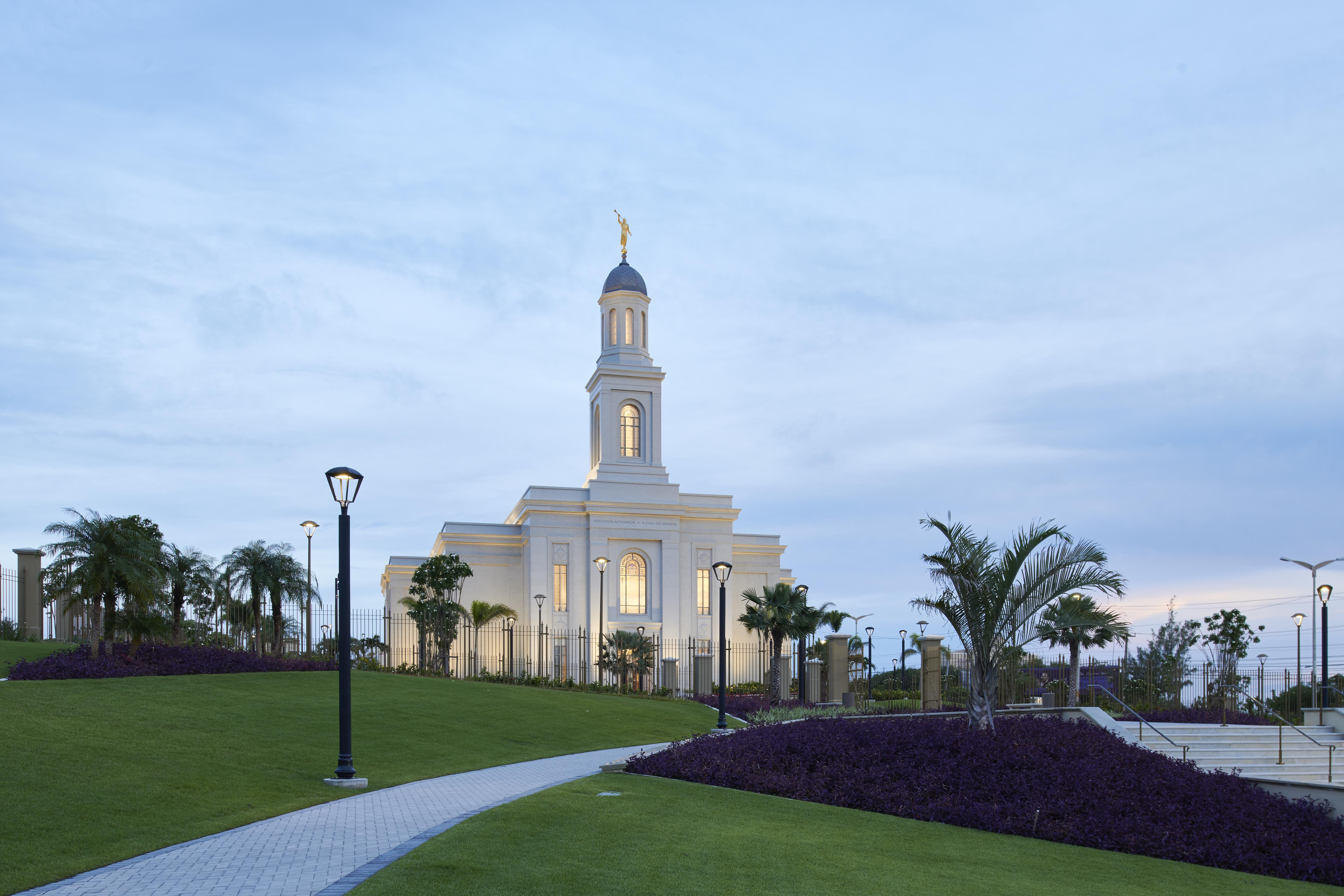 The Fortaleza Brazil Temple exterior and grounds.