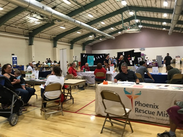 More than 30 service providers participated in a Project Connect event hosted at the Mesa Inter-Stake Center by three stakes in Mesa, Arizona, and sponsored by Valley of the Sun United Way.