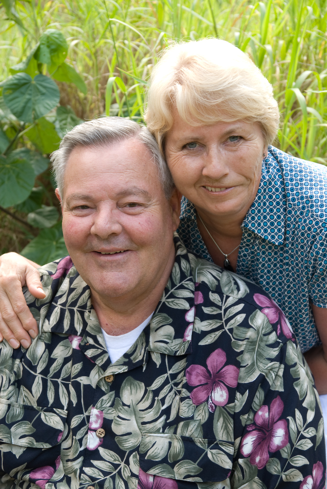 Tom and Lisbeth Pettersson Slater in Hawaii in 2008.