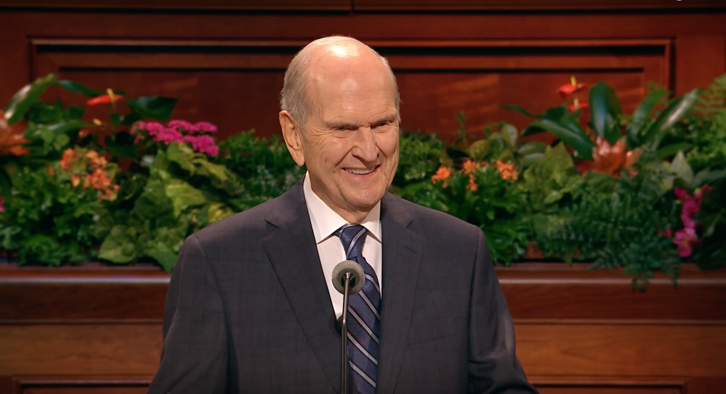 "President Russell M. Nelson delivers his address, ""The Correct Name of the Church,"" during October 2018 general conference."