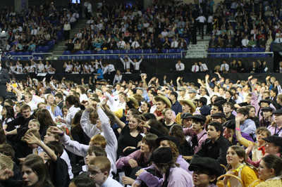 More than 1,200 youth participated in Saturday evening's youth celebration, held prior to the temple dedication Sunday.