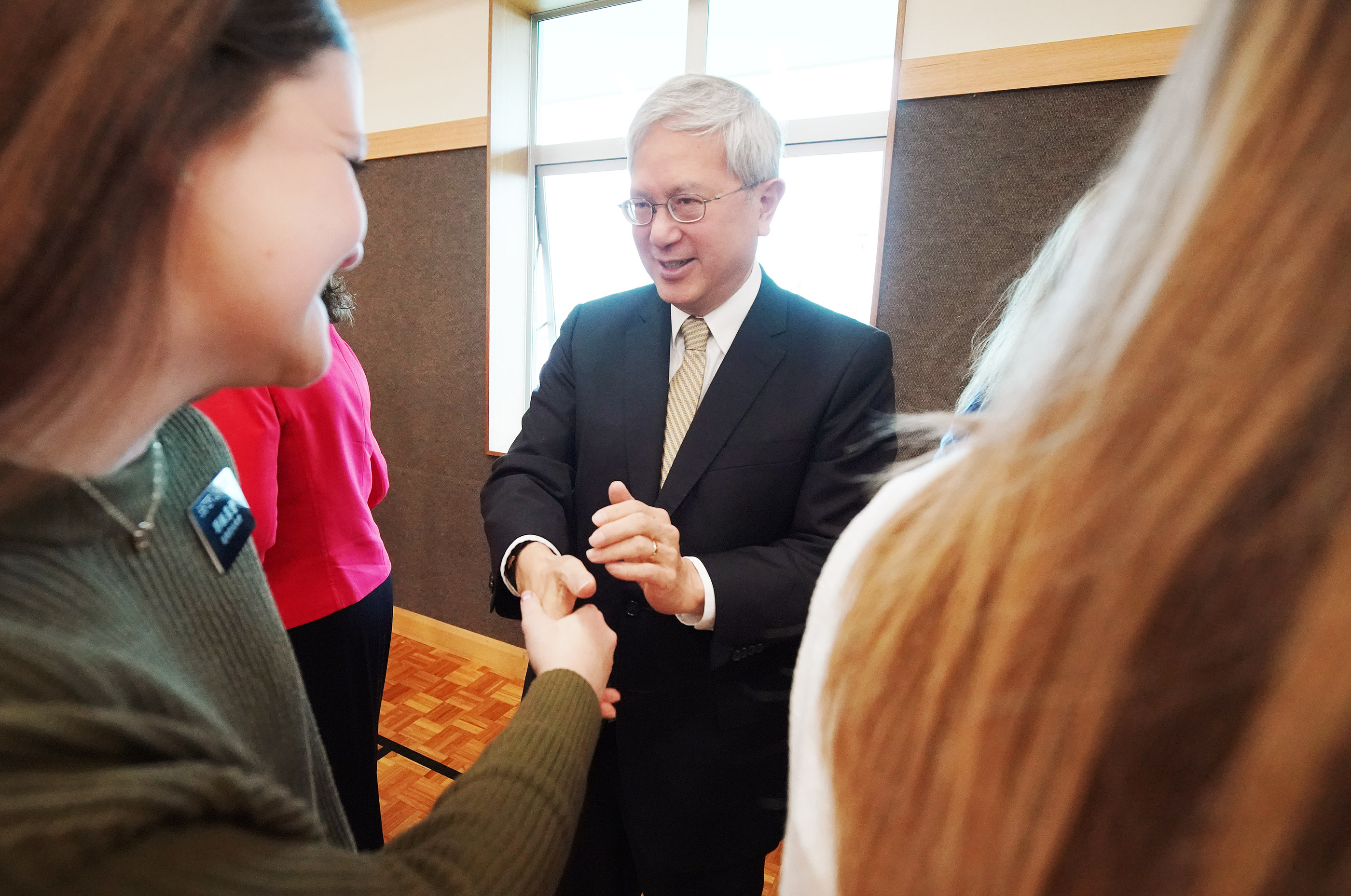 Elder Elder Gerrit W. Gong of The Church of Jesus Christ of Latter-day Saints' Quorum of the Twelve Apostles meets with missionaries in Auckland, New Zealand on Tuesday, May 21, 2019.