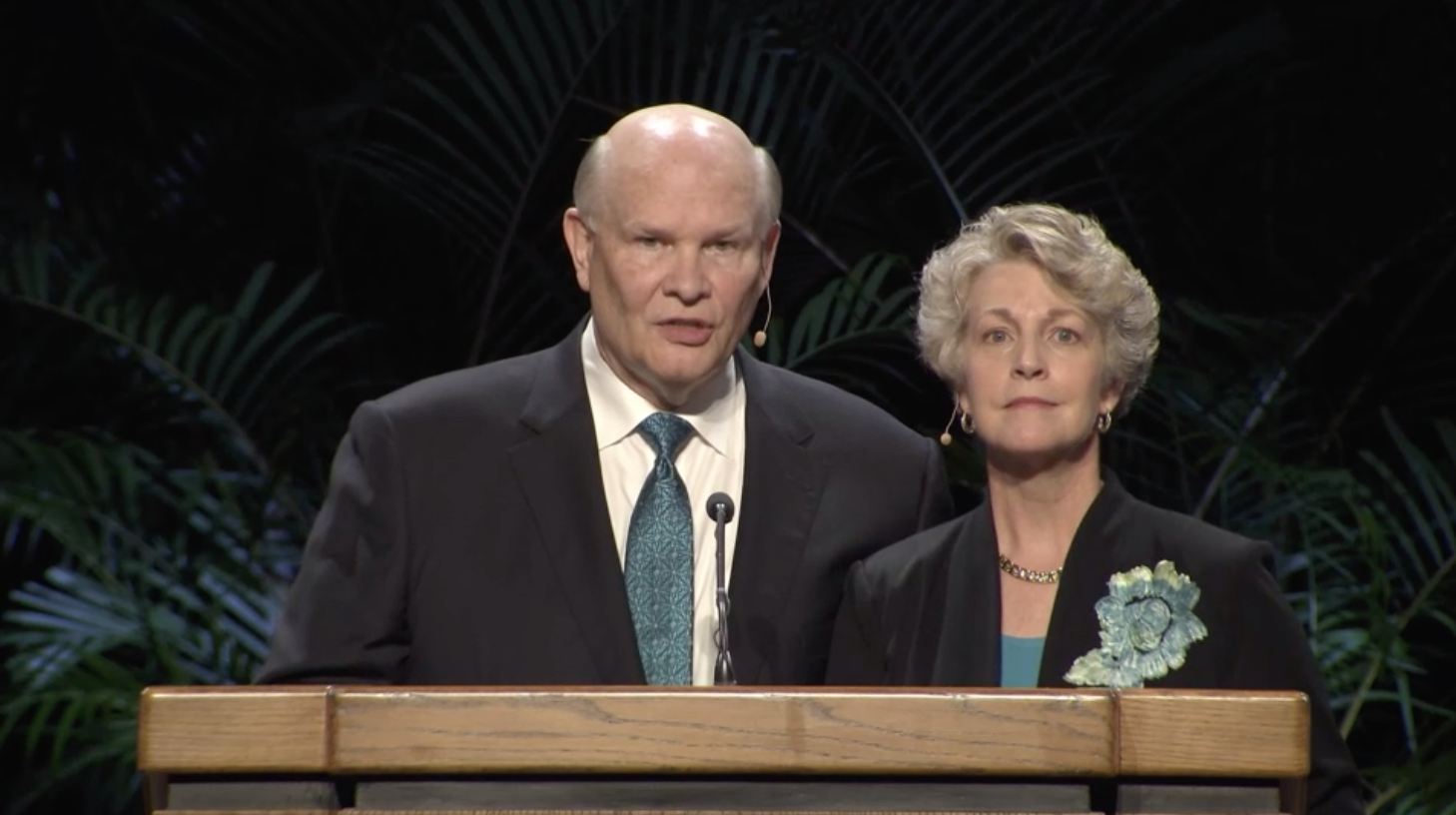 Elder and Sister Renlund speak during a worldwide devotional for young adults on Jan. 13, 2019, at BYU-Hawaii.