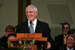 Elder Marlin K. Jensen speaks during a CES Devotional on May 6, 2012, in Sacramento, Calif.