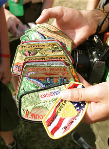 Scout patches are readily available at the jamboree.