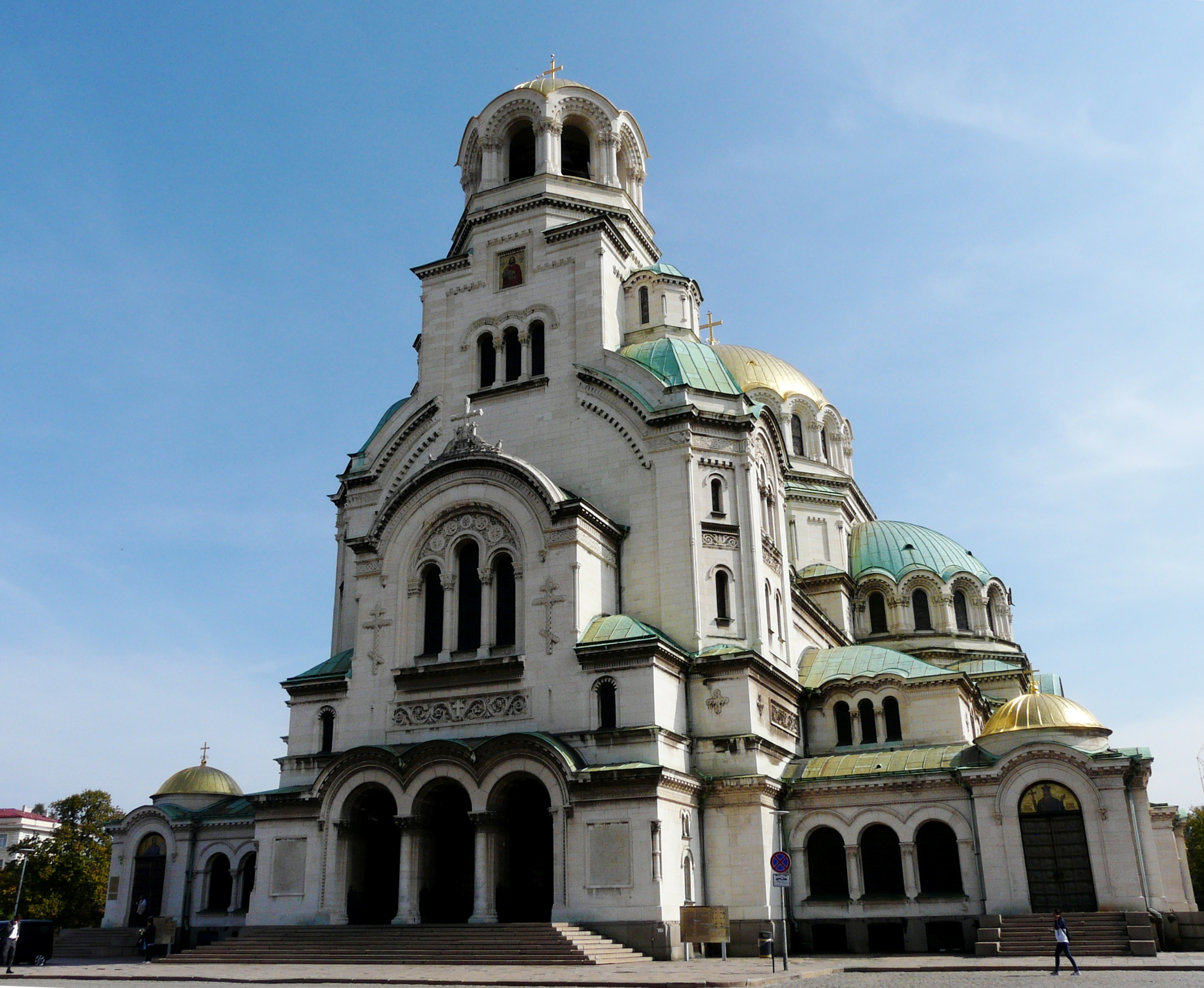 Alexander Nevsky Cathedral in Sofia is the massive landmark Orthodox church in the Balkans.