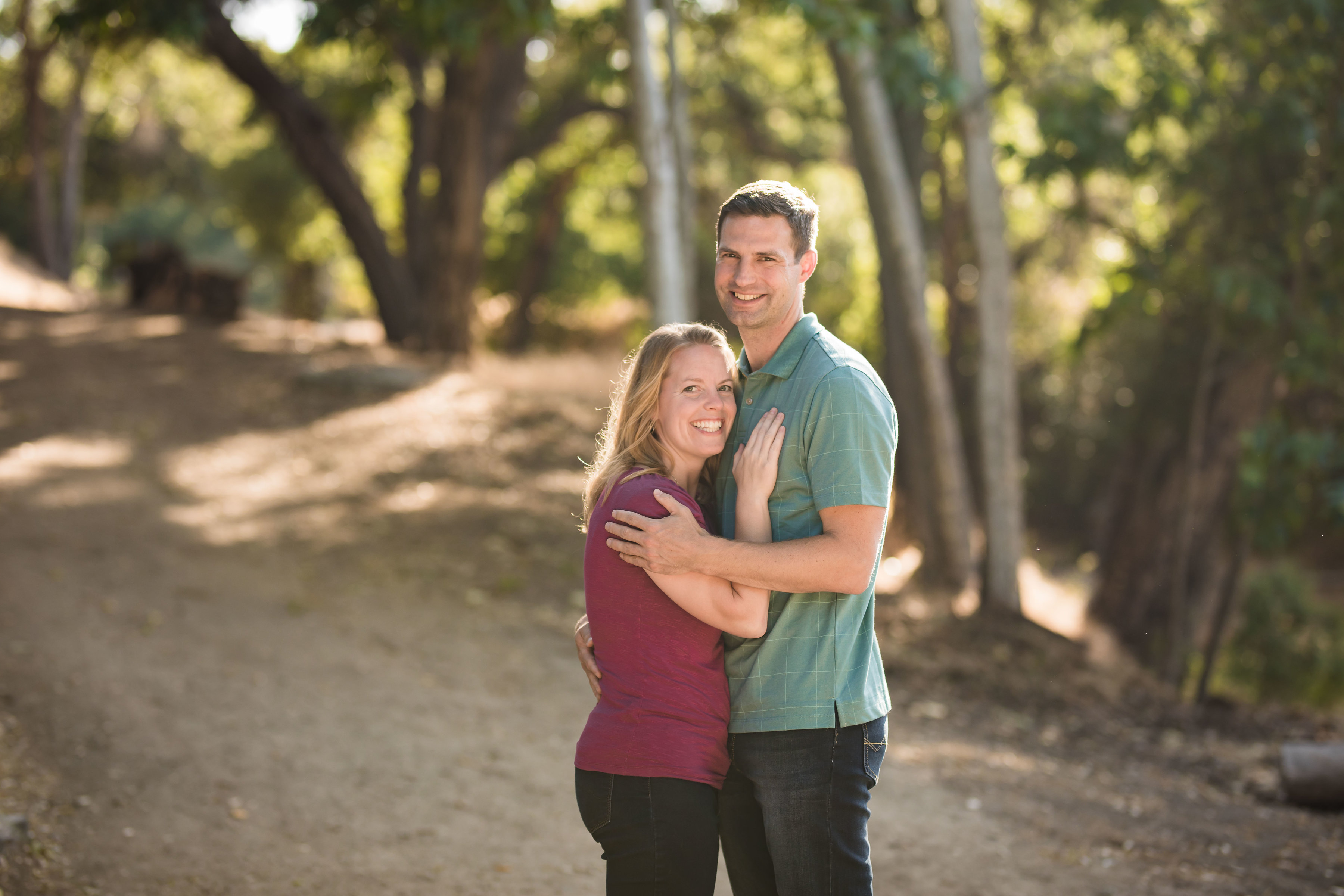 An engagement photo of Jacob and Marin Evans.