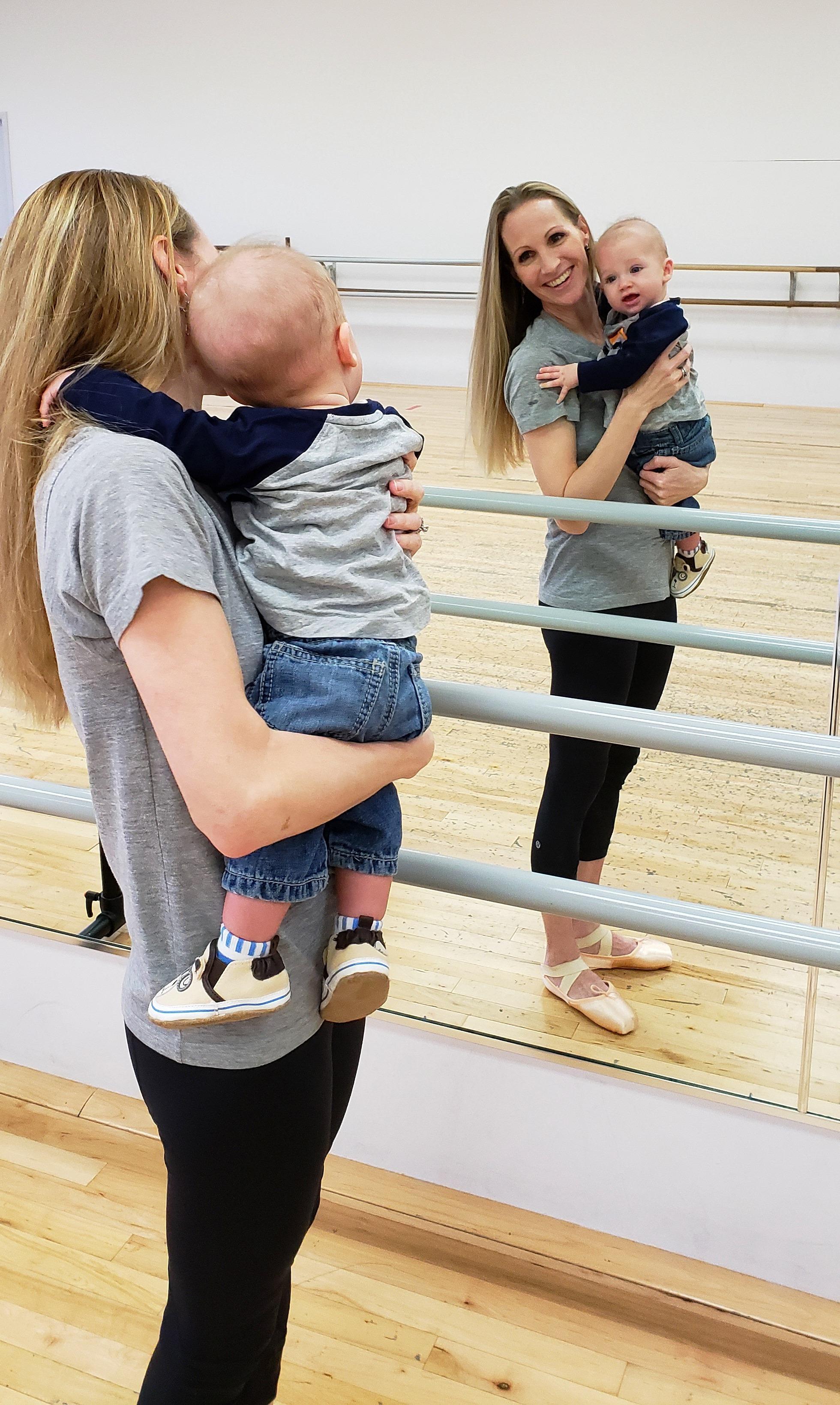 Sara Webb Bardo in her dance studio.