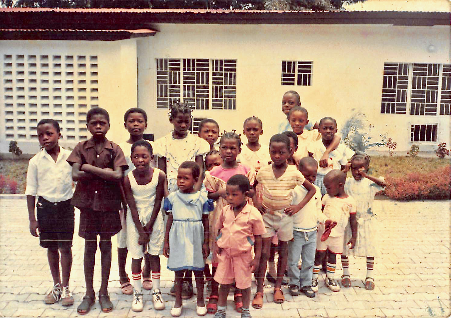 The Primary children of the Limété Branch in 1987 in Zaire (now the Democratic Republic of the Congo).