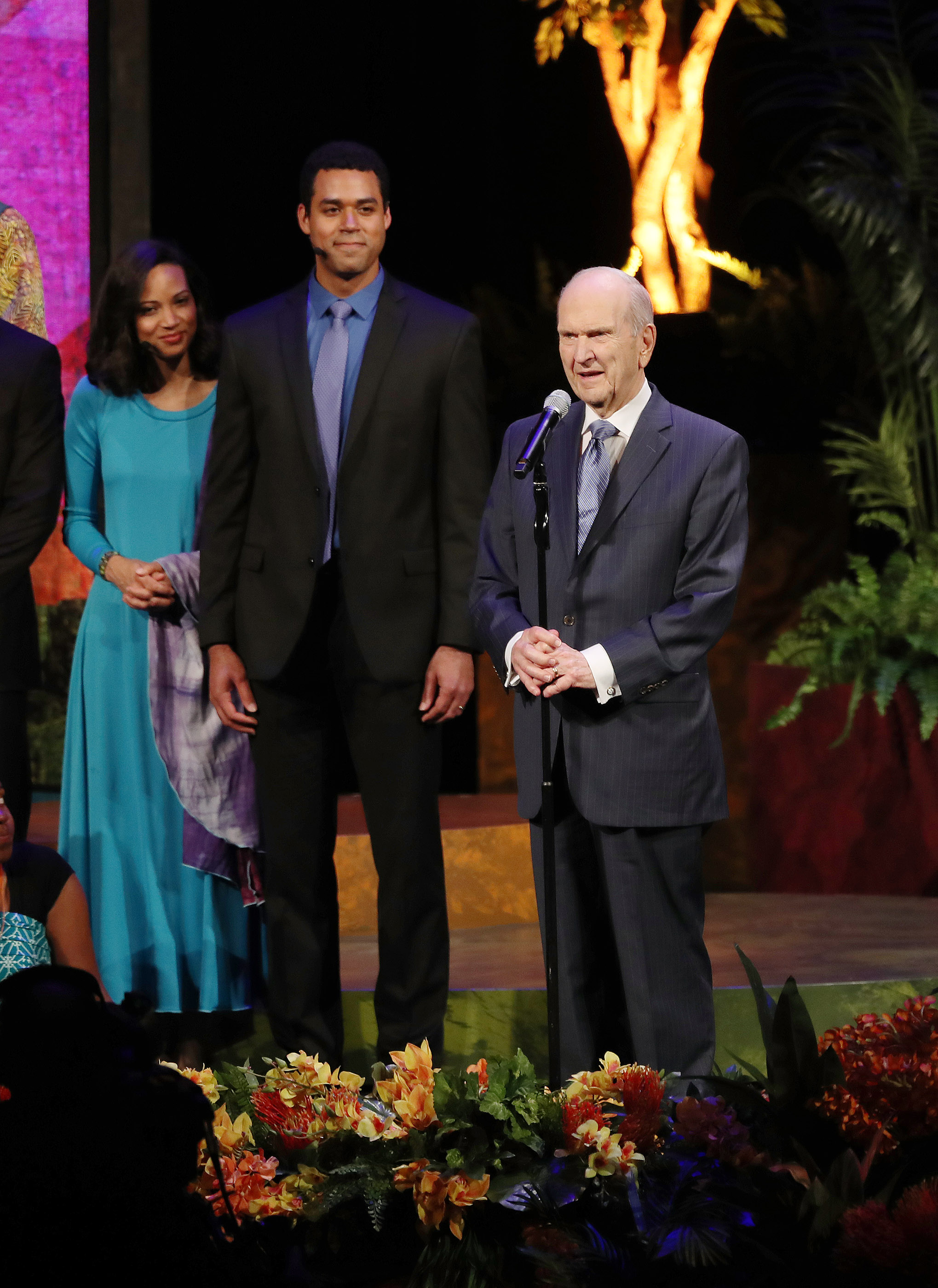 """President Russell M. Nelson speaks at the """"Be One"""" event at the Conference Center in Salt Lake City on Friday, June 1, 2018. The event celebrated the 40th anniversary of the 1978 revelation on the priesthood."""