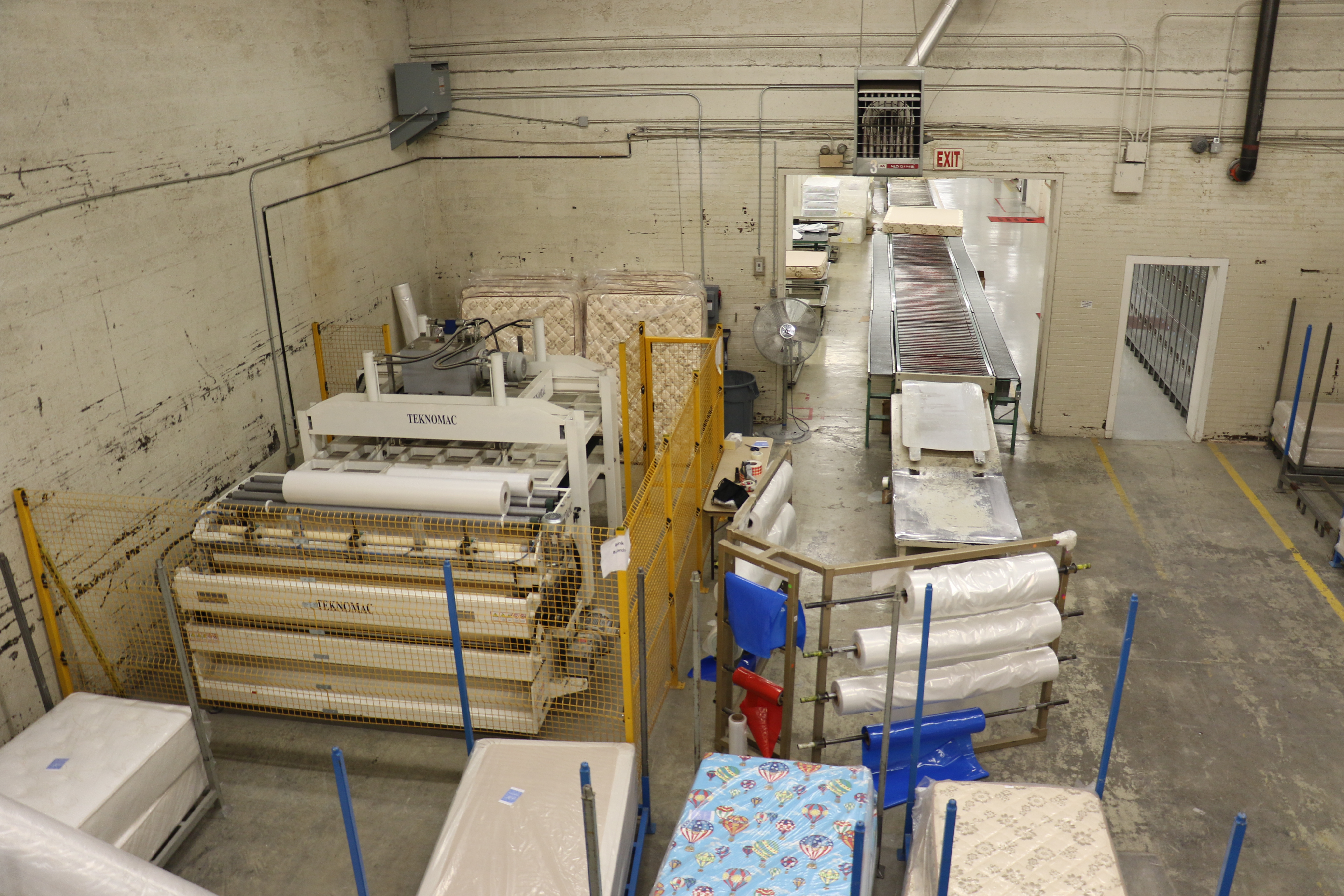 Mattresses made at the Deseret Manufacturing facility in Salt Lake City, Utah are sold through Deseret Industries.