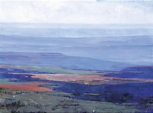 """Douglas Fryer's landscape """"from Blue Mountain."""""""