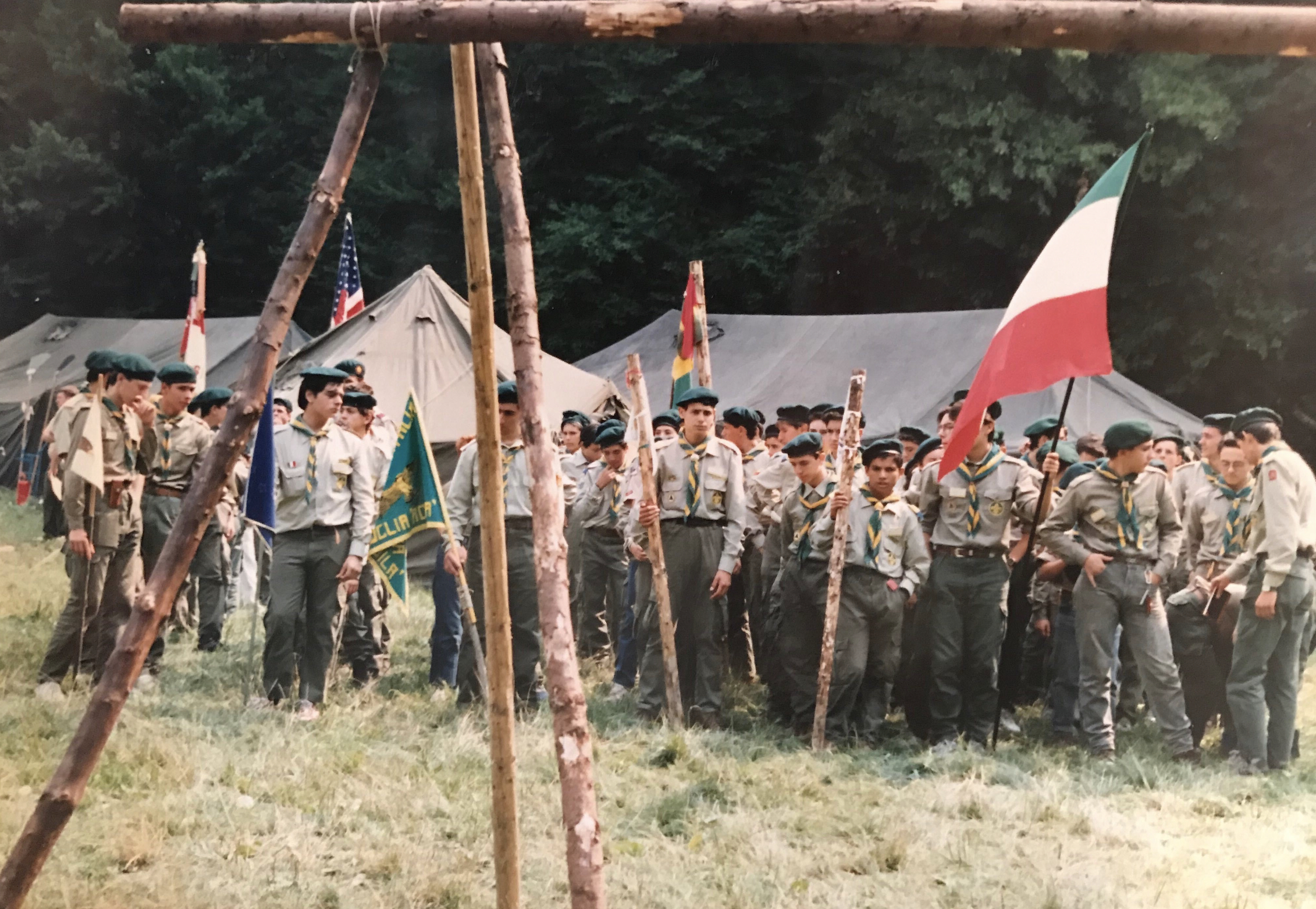 While living in Italy, Roberto Deni helped organize a Boy Scout troop that later attended a World Jamboree.
