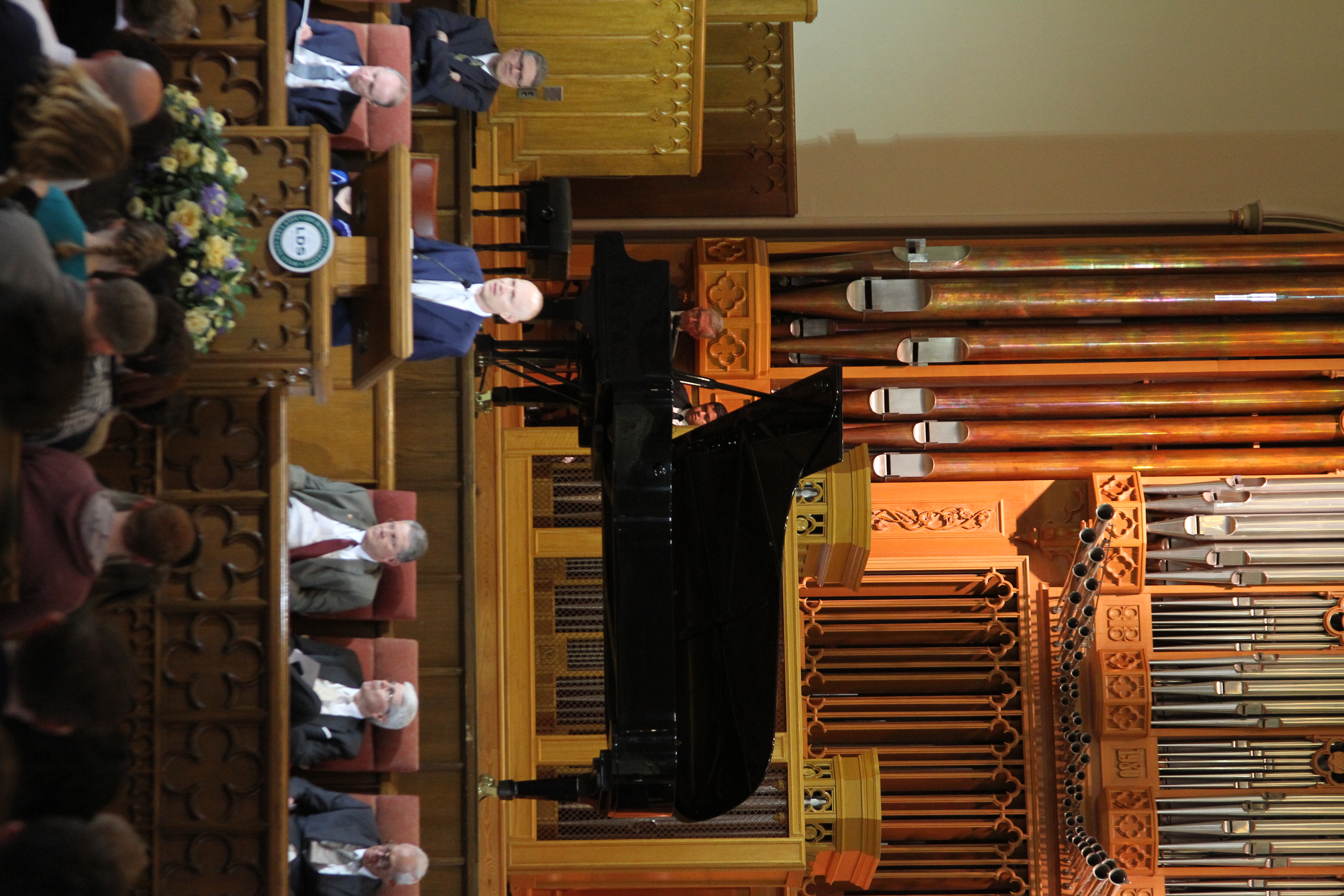 Jon Schmidt speaks during an LDS Business College devotional in the Assembly Hall on Temple Square on March 26, 2019.