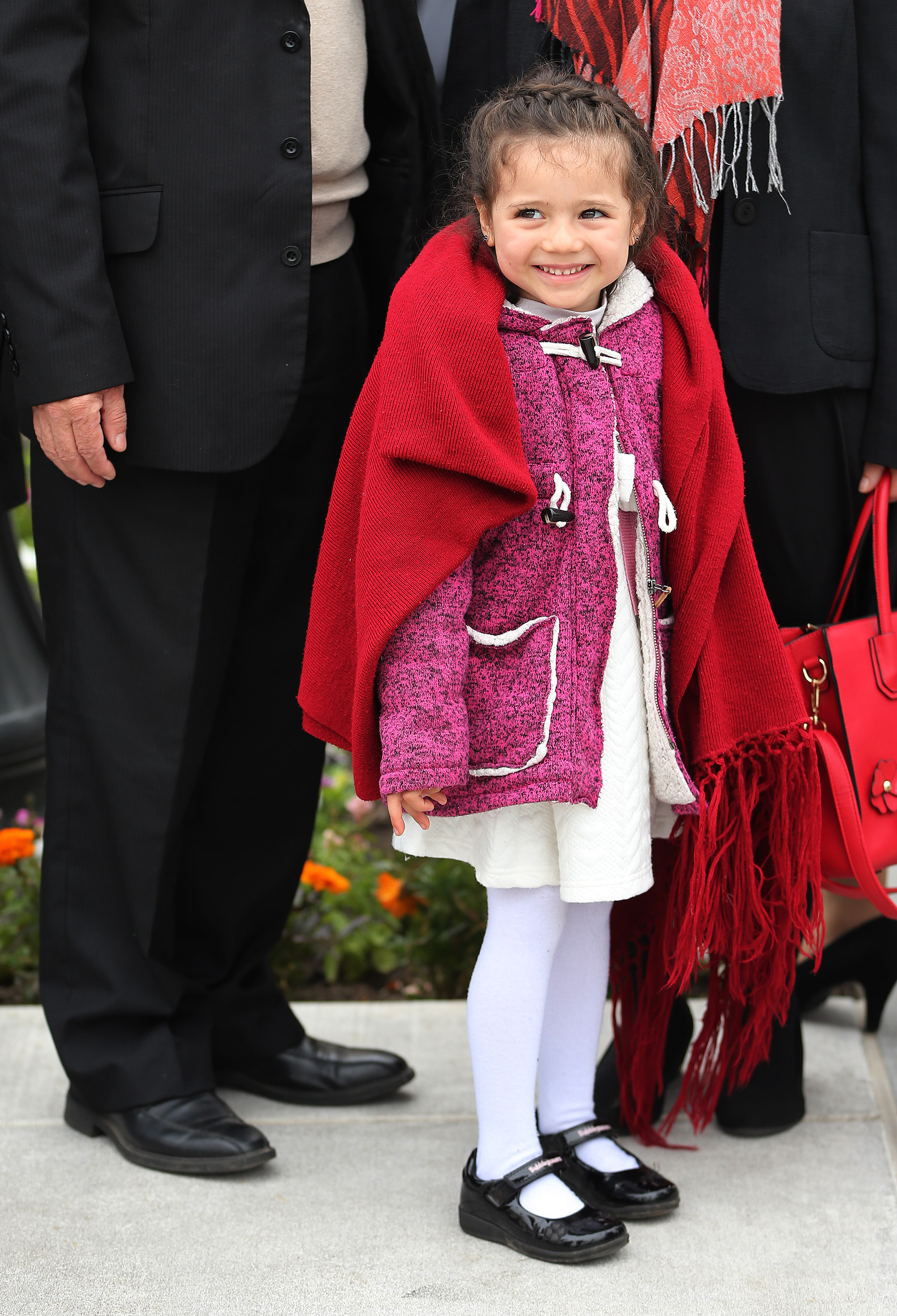 Gabriela Rojas stands outside the Concepcion Chile Temple on Sunday, Oct. 28, 2018, in Concepcion, Chile.