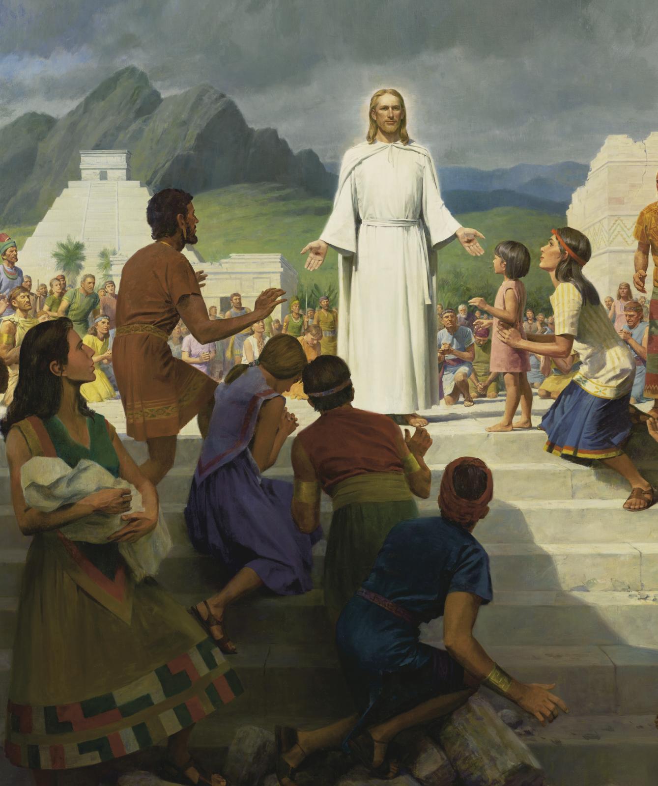 """Jesus Christ Visits the Americas,"" by John Scott"