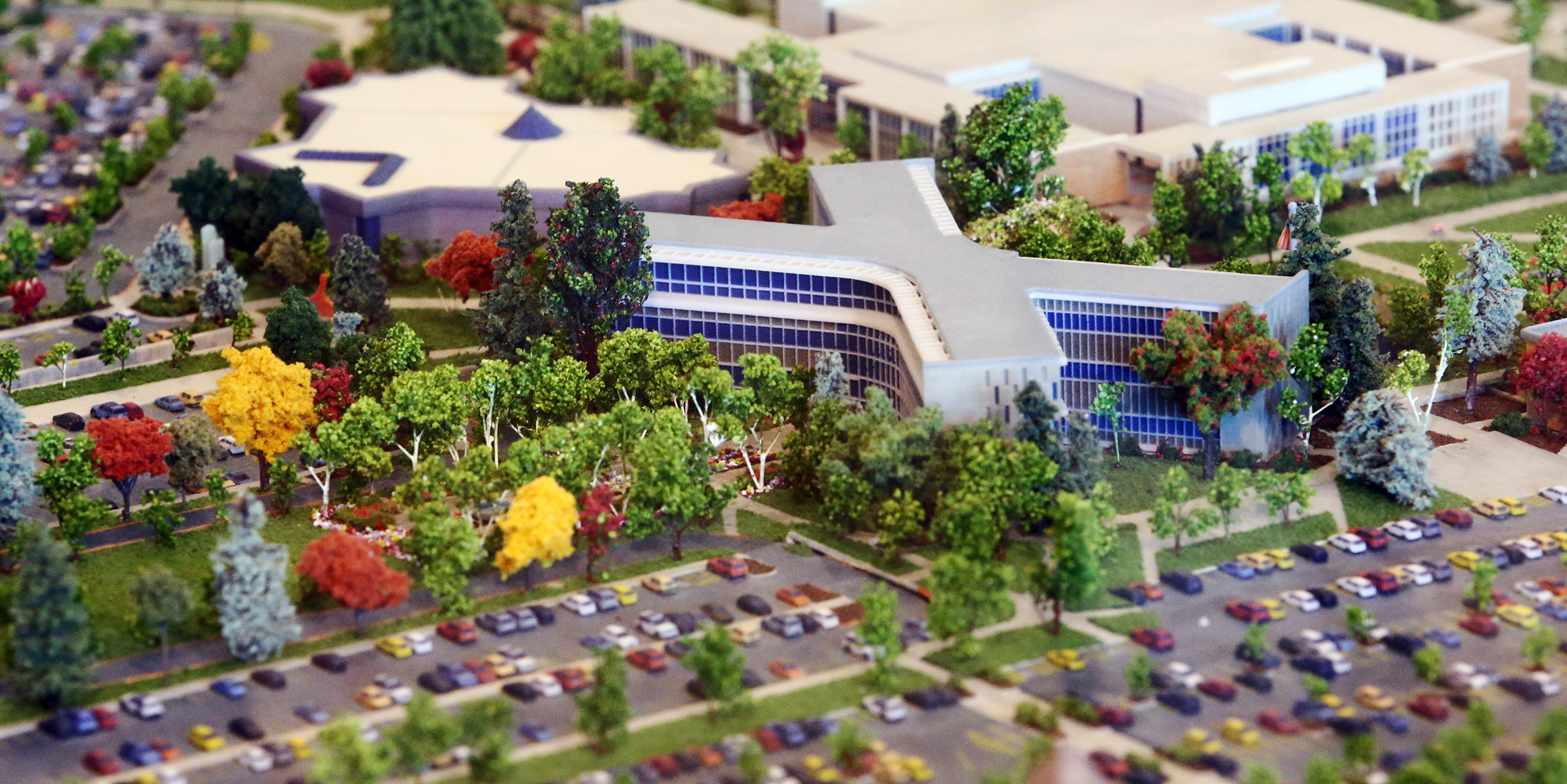 BYU unveils a highly-detailed campus diorama on Tuesday, July 2, 2019.