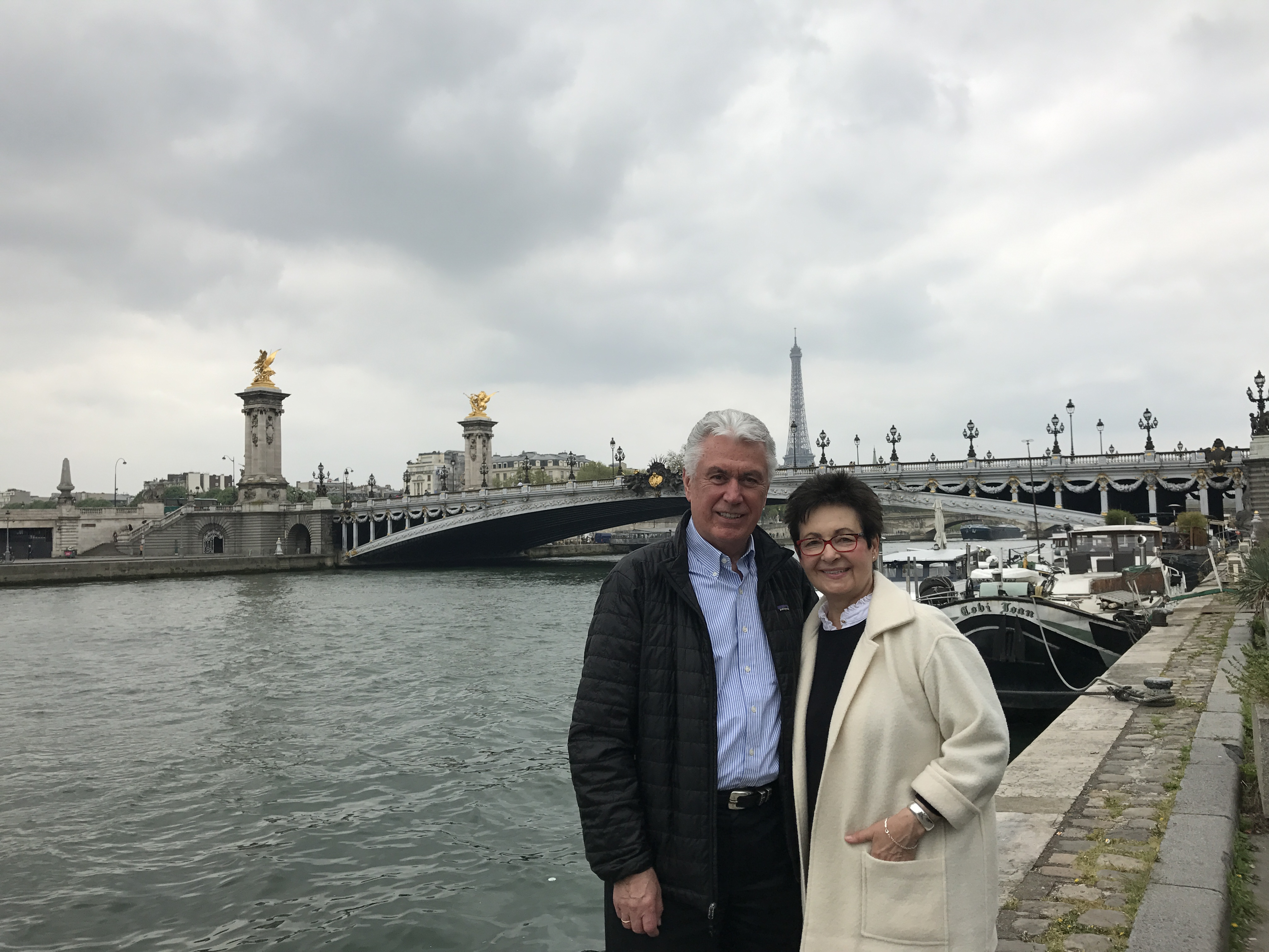 Elder Dieter F. Uchtdorf and Sister Harriet R. Uchtdorf in Paris, France, on April 9, 2017.