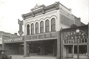 President Packer's father, Ira Wright Packer, owned Packer's Garage on Brigham City's Main Street; the top floor was converted into a large apartment so the family could be closer to work and school.