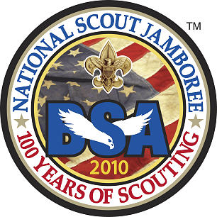 Official logo for the 2010 National Scout Jamboree.