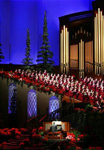 The Mormon Tabernacle Choir sing during the annual First Presidency Christmas Devotional in Salt Lake City Dec 3, 2006. Jeffrey D. Allred/photo