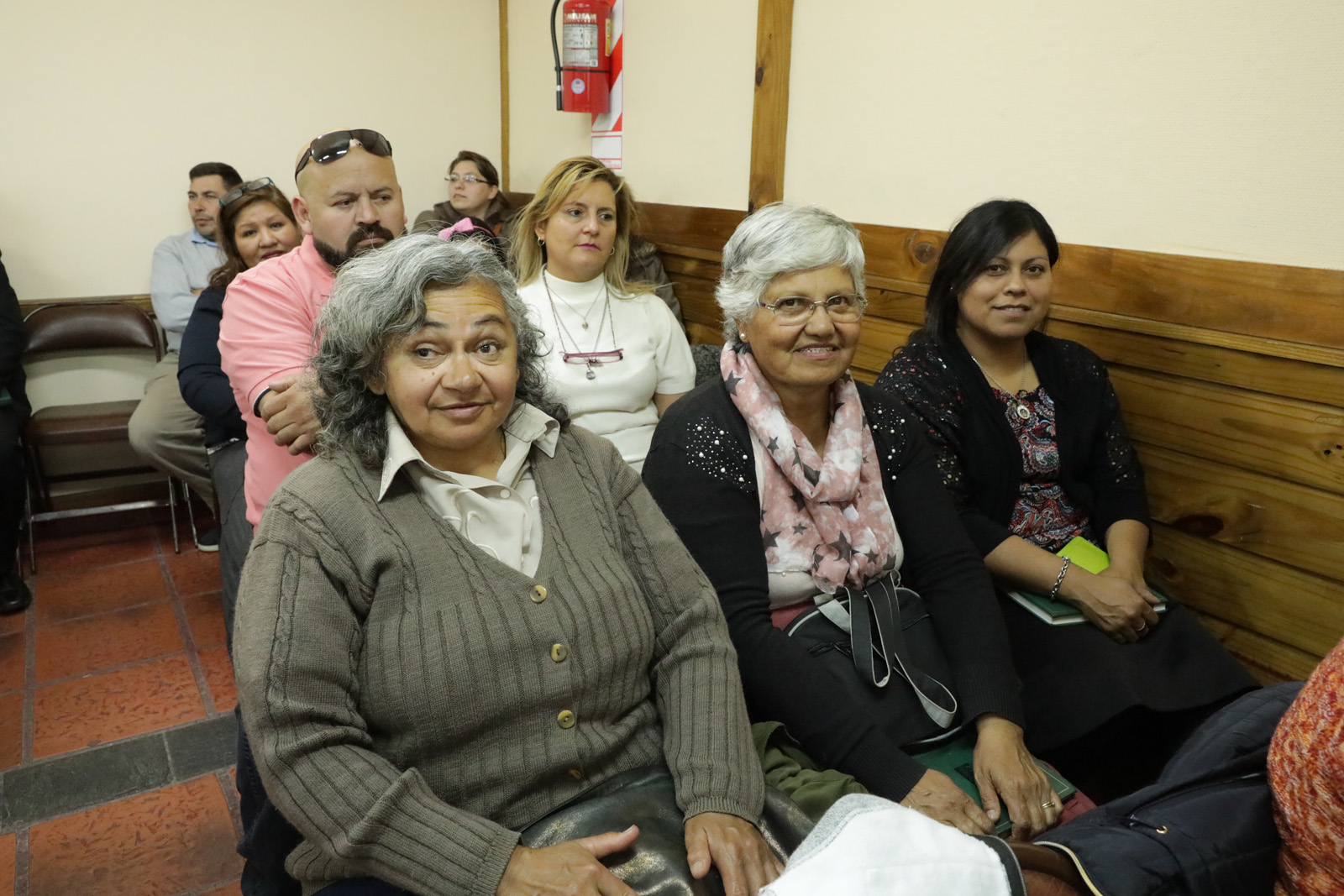 Members of the El Calafate Branch in Argentina gather for a meeting with Elder Renlund on Feb. 20, 2019.