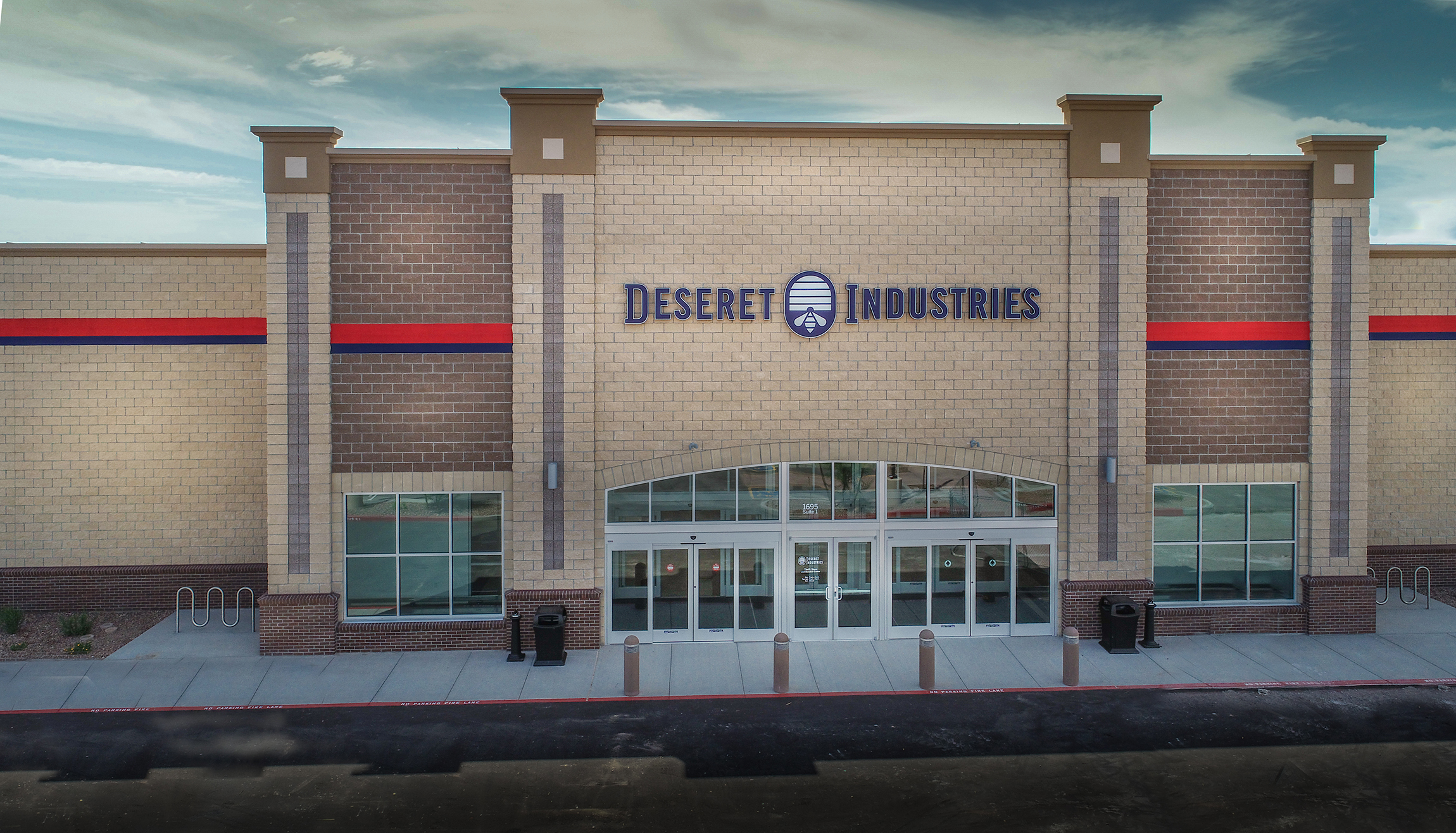 The exterior of the new Deseret Industries in Gilbert, Arizona, which was dedicated by Bishop Dean M. Davies of the Presiding Bishopric on Oct. 20, 2018.