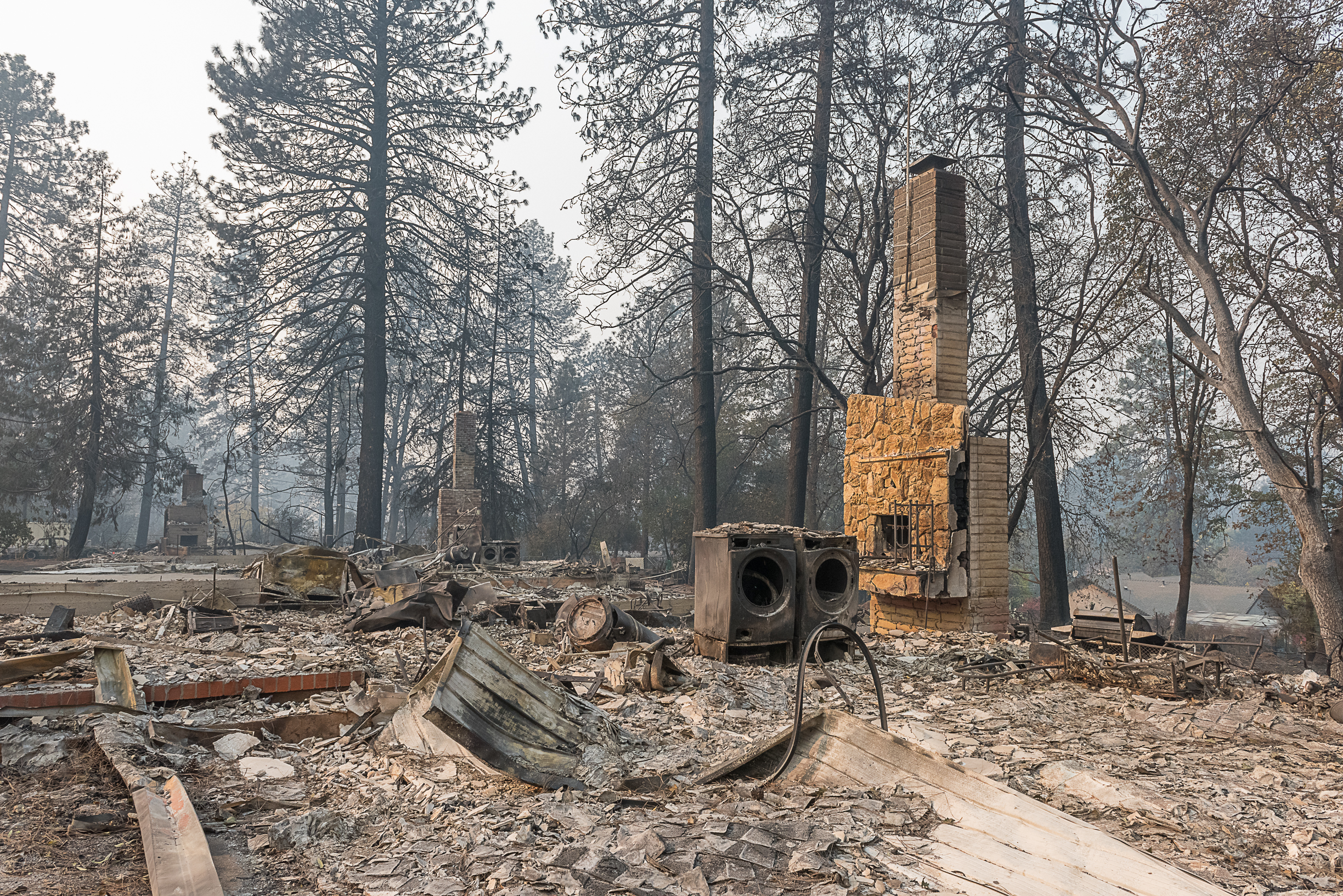 The destructive aftermath of the deadliest wildfire in California history, which struck the Northern California city of Paradise. Photo was taken Nov. 16, 2018.