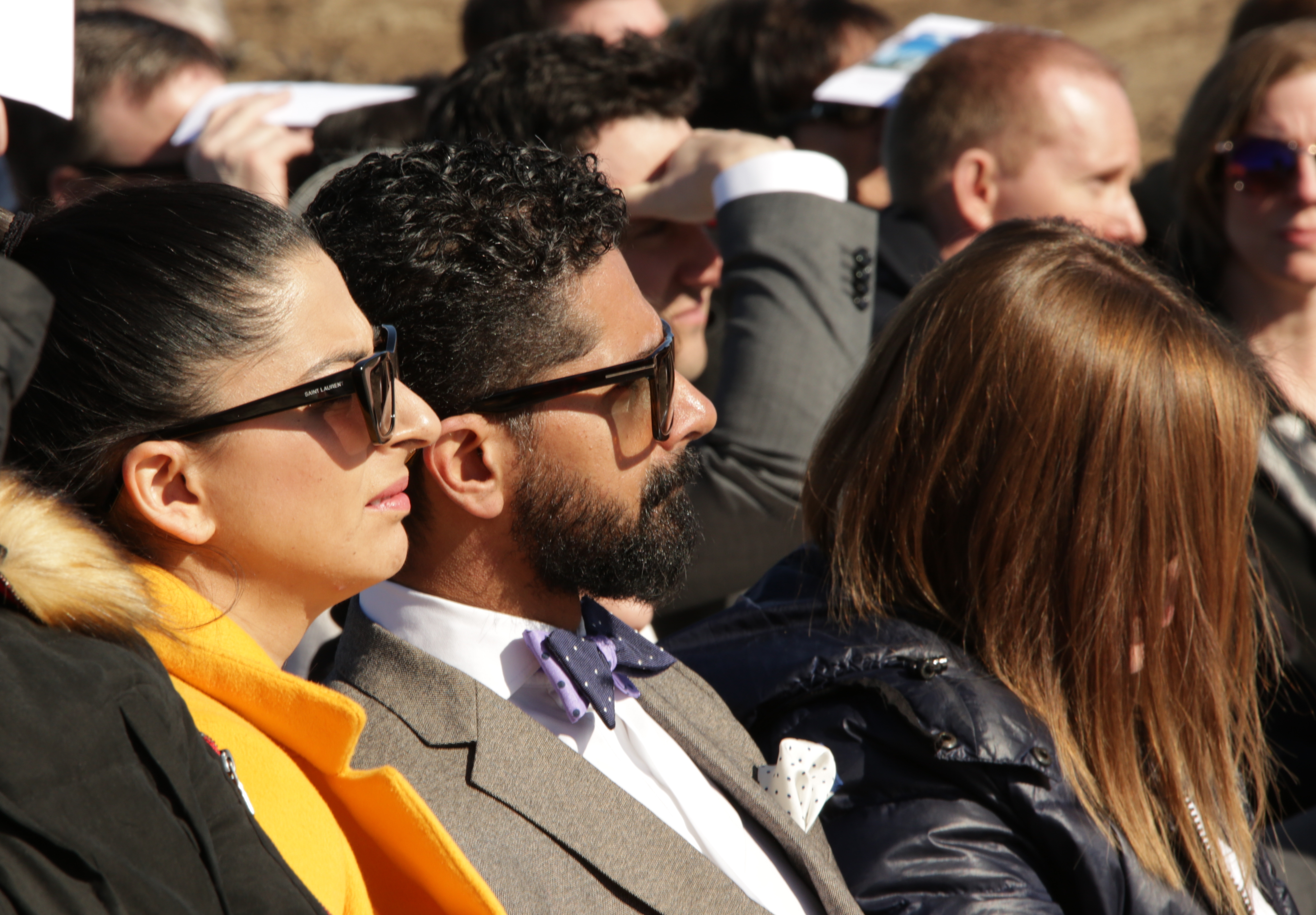 Beena Mannan and her husband, Dr. Fahim Rahim, represent the Pocatello, Idaho, Muslim community at the March 16, 2019, groundbreaking ceremony of the future Pocatello Idaho Temple. Rahim wrote an opinion piece in the local newspaper lauding the Church for its efforts to promote inclusivity.