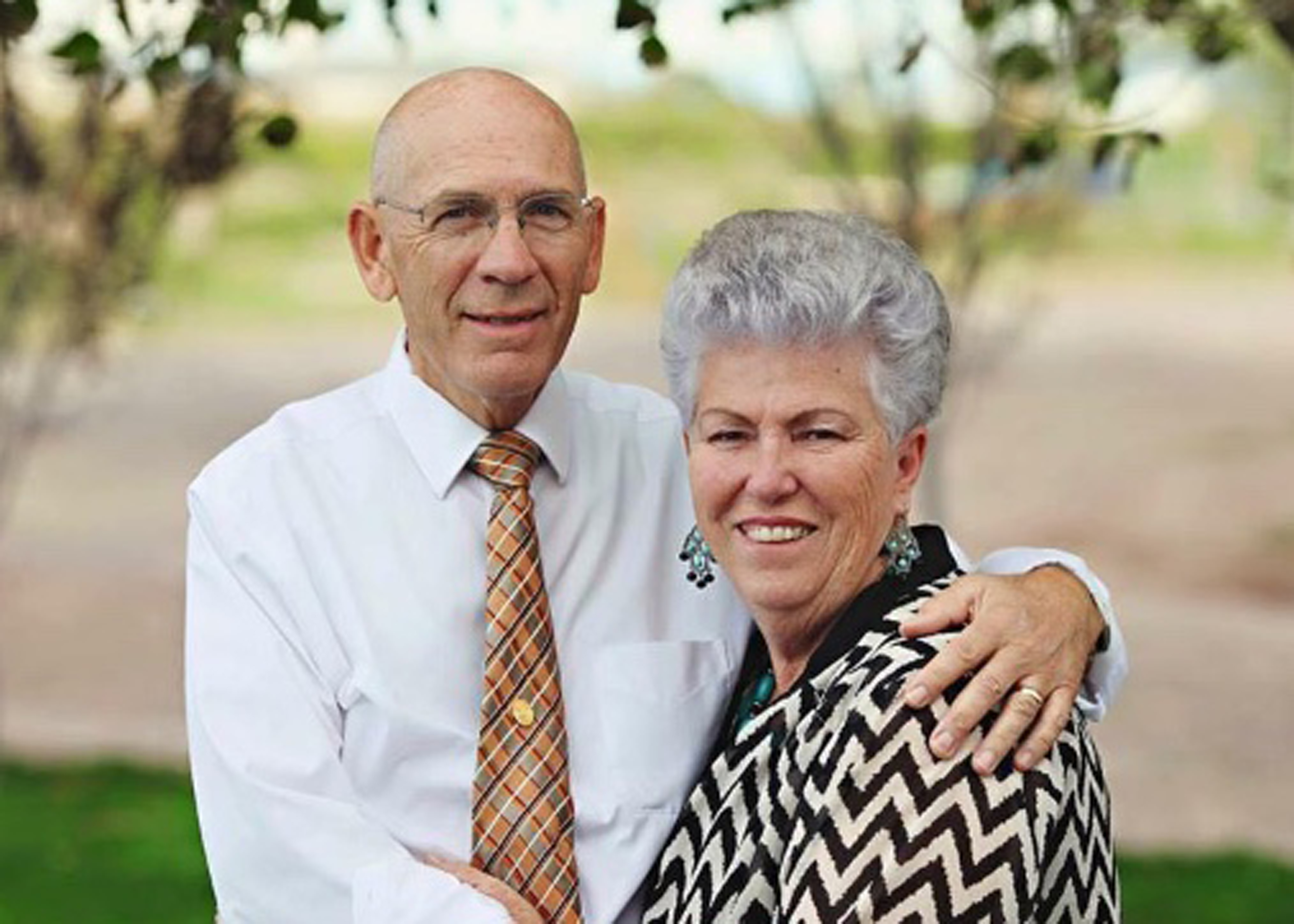 Mel J. Palmer, who worked as a high school seminary teacher and now serves in The Gila Valley Arizona Temple presidency, pictured with his wife, Adeline Palmer.