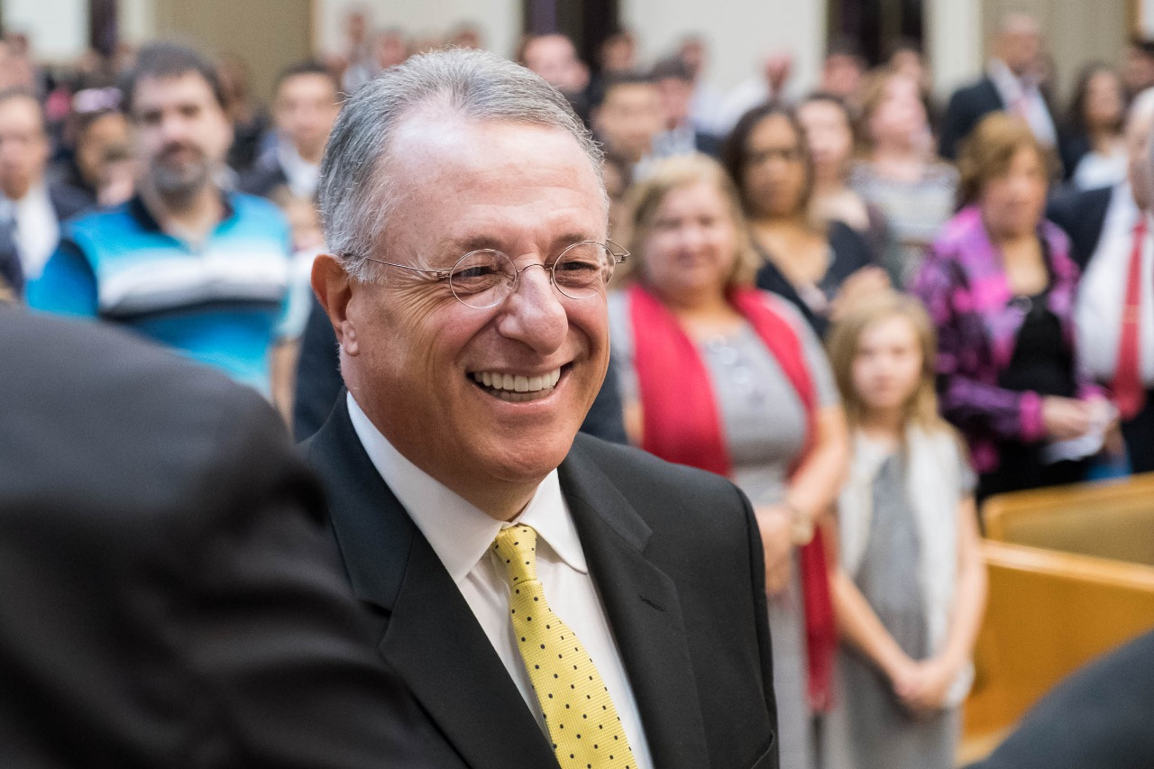 Elder Ulisses Soares visits with members in his native Brazil. Traveling with President M. Russell Balllard, Elder Soares returned to Brazil when he arrived in Sao Paulo on Aug. 24, 2018. Elder Ulisses Soares also returned to the neighborhood of his youth during a recent assignment in 2019.
