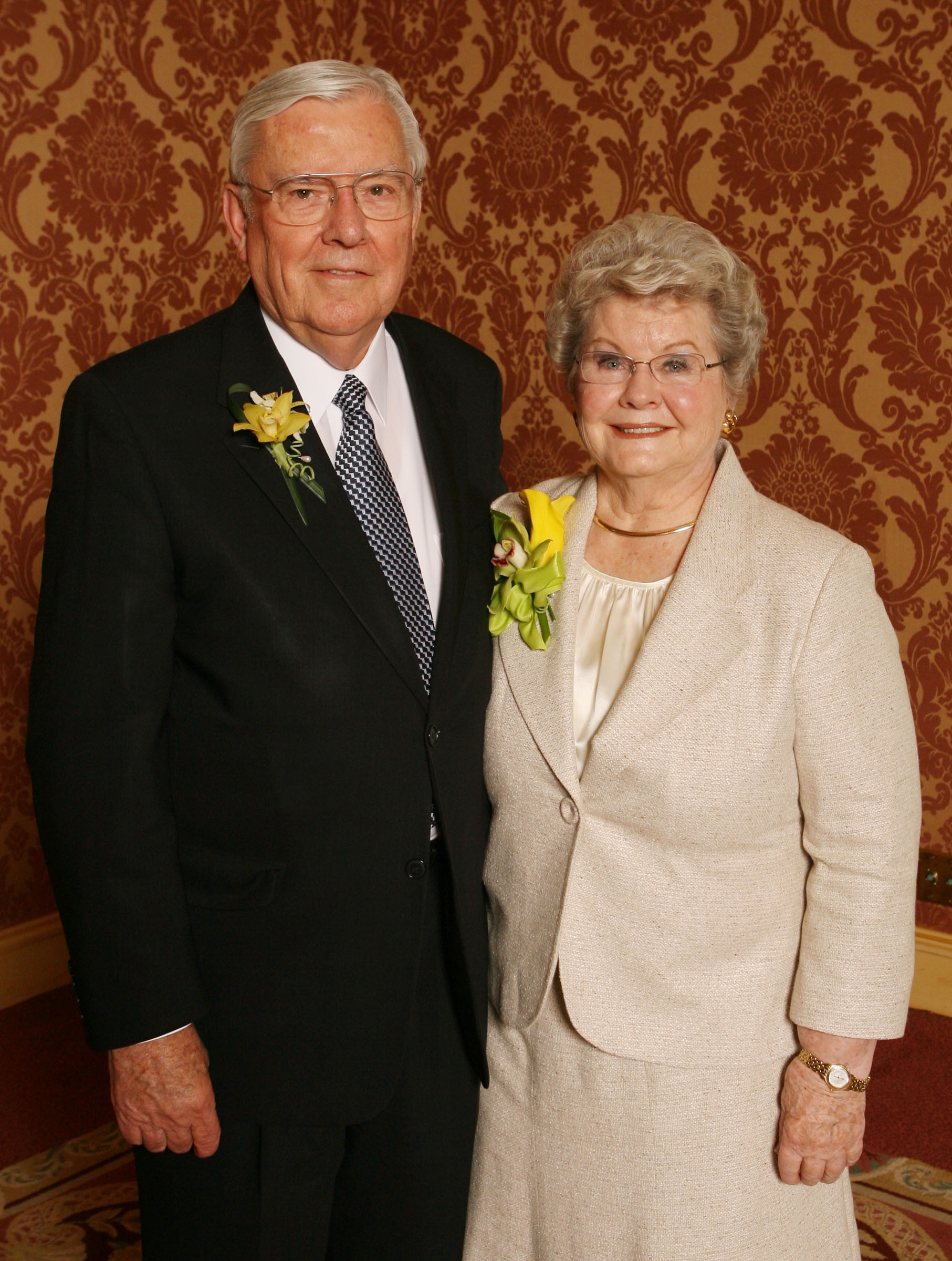 Elder M. Russell Ballard and his wife, Sister Barbara B. Ballard, prior to receiving the Legacy of Life Award April 17, 2008, in Salt Lake City.