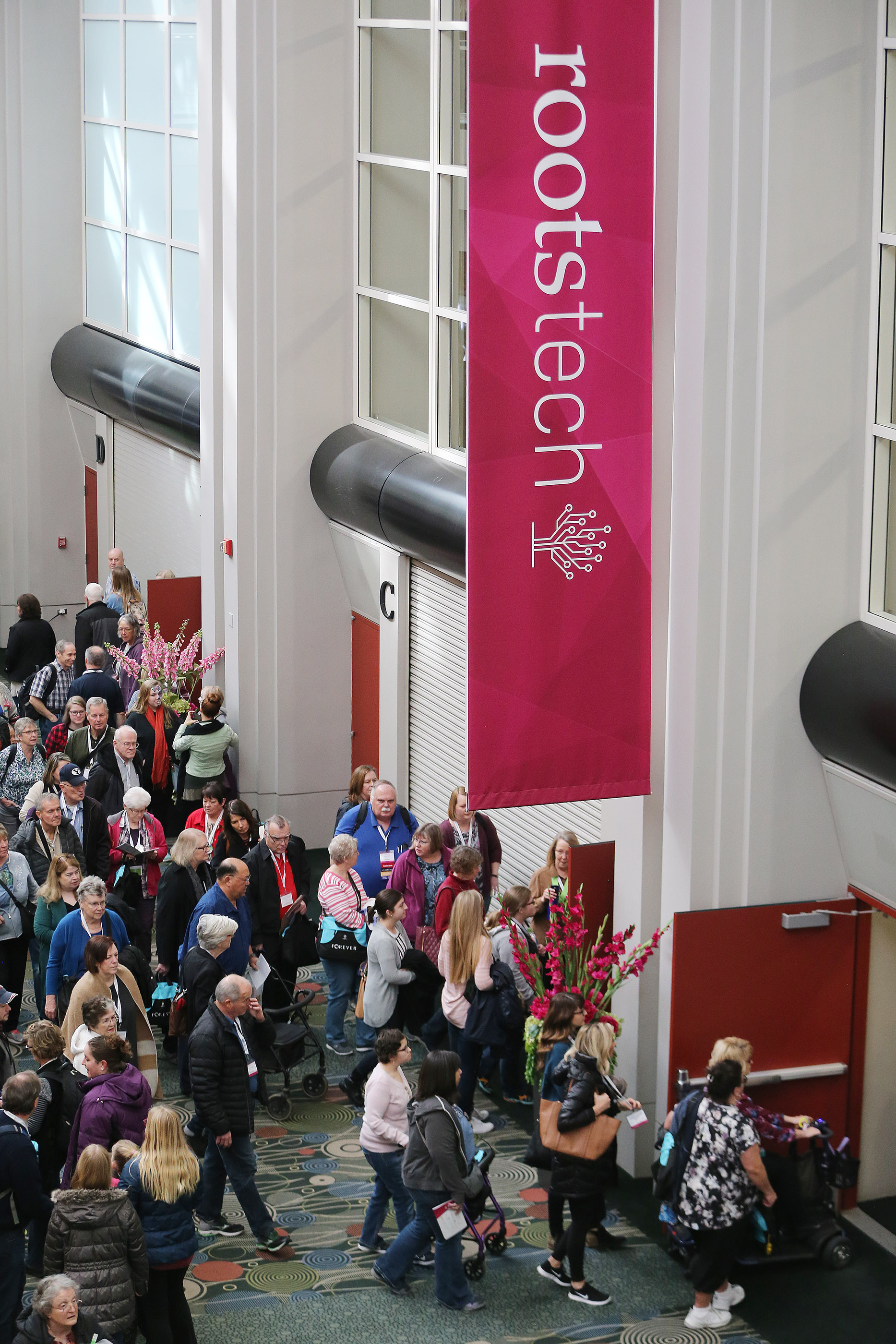 Attendees walk through RootsTech in Salt Lake City on Saturday, March 3, 2018. This year's RootsTech is scheduled for Feb. 27-March 2 at the Salt Palace Convention Center.