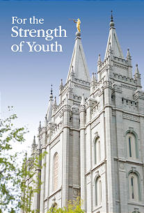 The new cover For the Strength of Youth booklet features the Salt Lake Temple. Additional emphasis in the booklet is given to being worthy to attend the temple.
