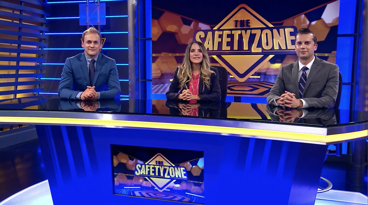 "The Church's new missionary safety video series is patterned after a fictitious studio show called ""The SafetyZone,"" with hosts talking about safety principles and showing ""highlight"" clips."
