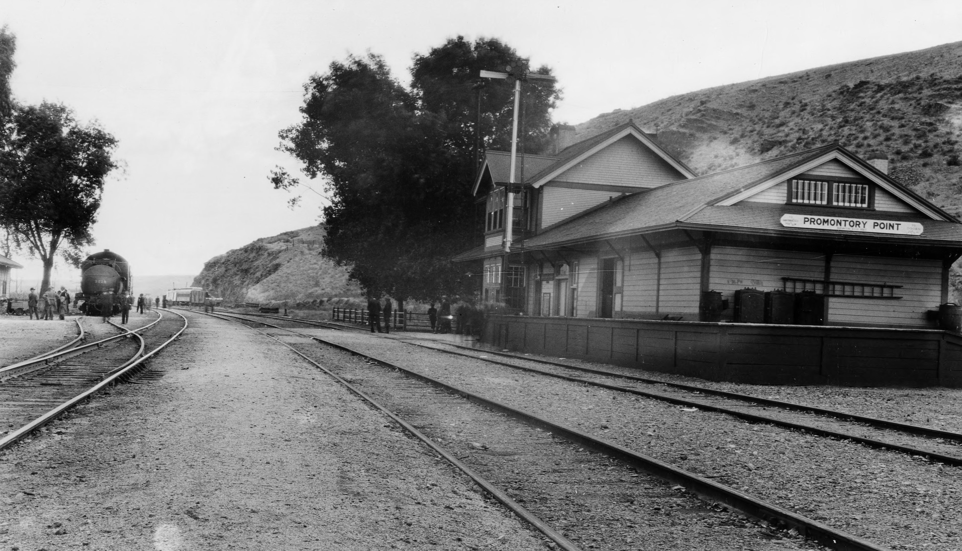Promontory Point Railroad Station, Southern Pacific, c. 1920.