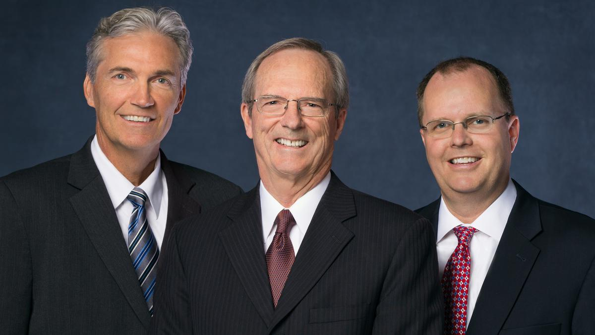 Sunday School general president Brother Tad R. Callister, center, and his counselors Brother Devin G. Durrant, left, and Brother Brian K. Ashton, right.